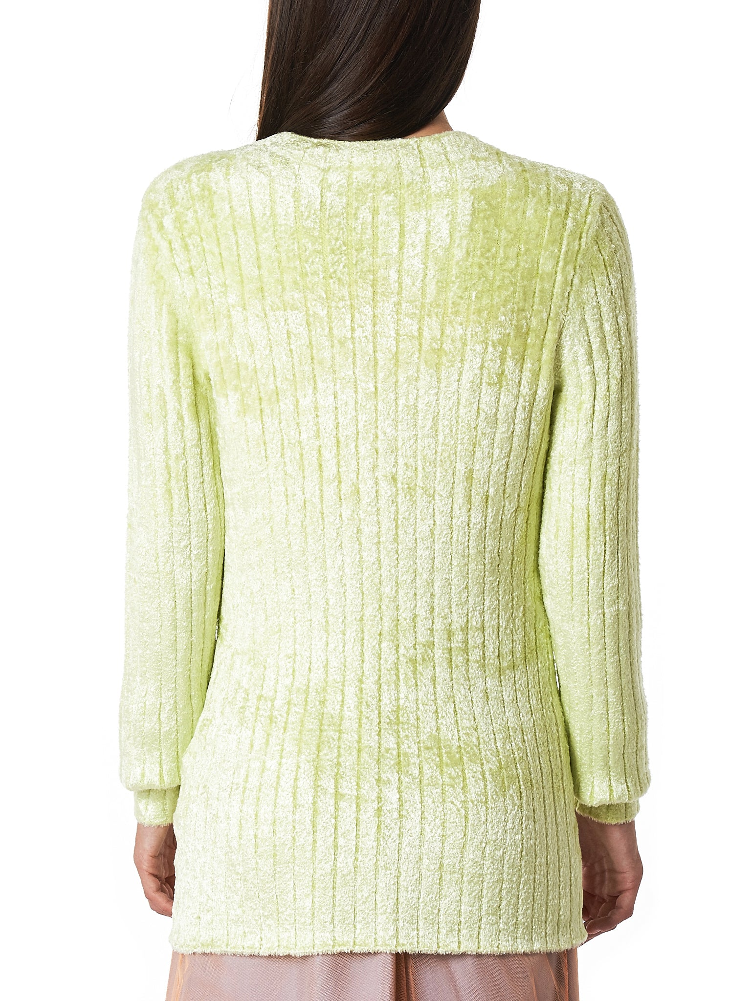 'Dion' Collarless Sweater (9VK8013-LEMON-LIME)