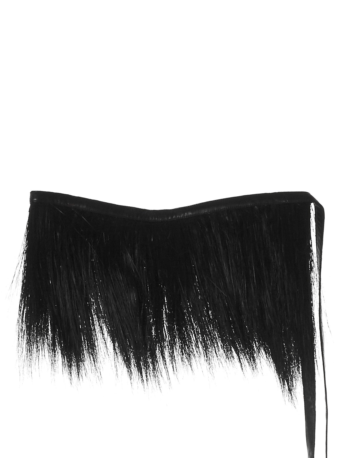 Hair-Fringed Belt (A-3-BLACK) - H. Lorenzo