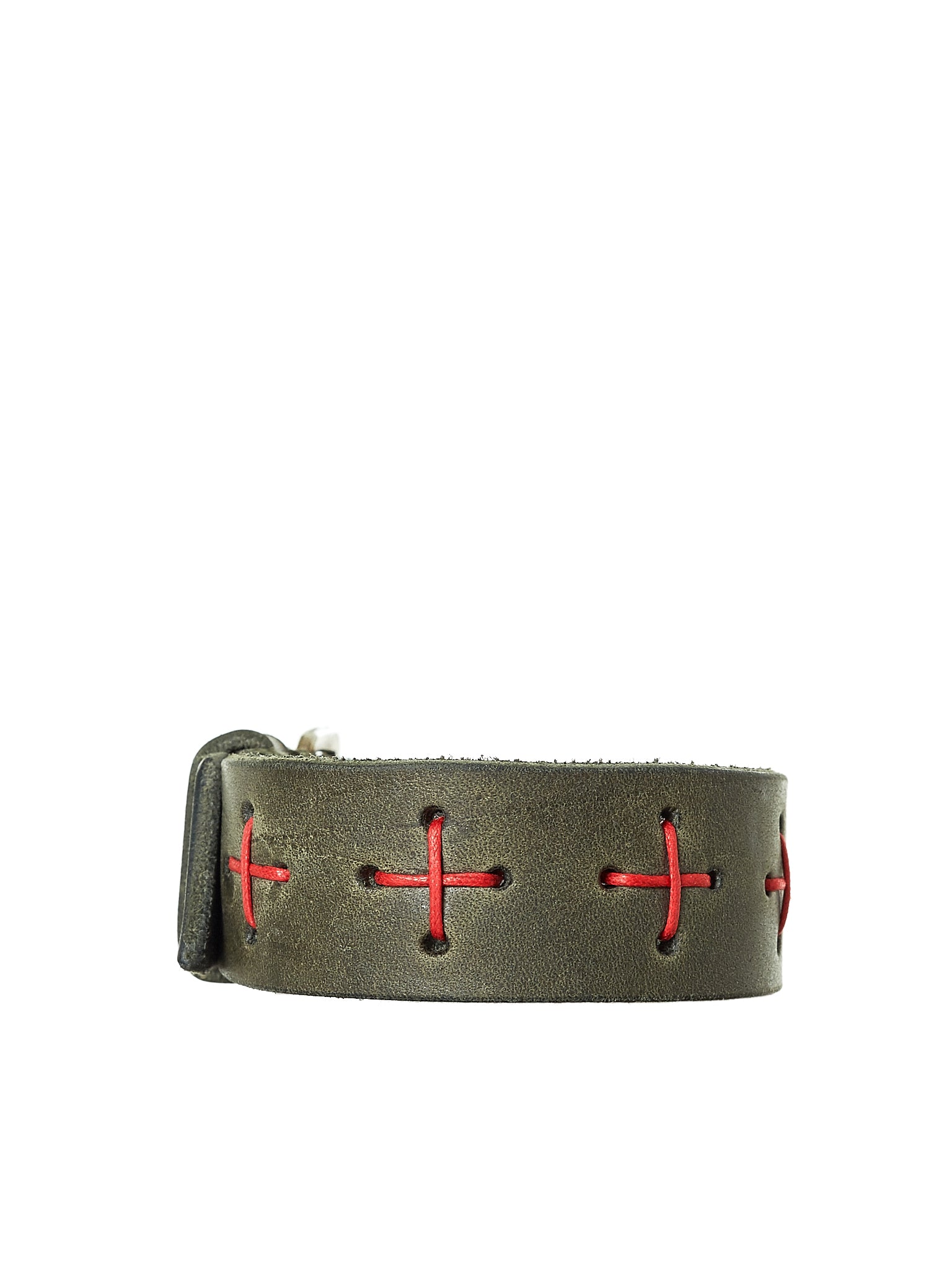 Leather Bracelet (A-F8E1-GR-3-0-BRONZE-GREEN)