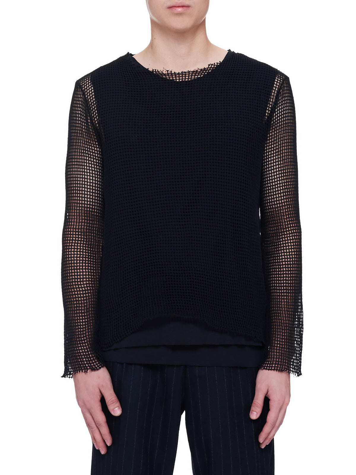 Layered Loose Knitted Sweater (A01-116-19008-BLACK)
