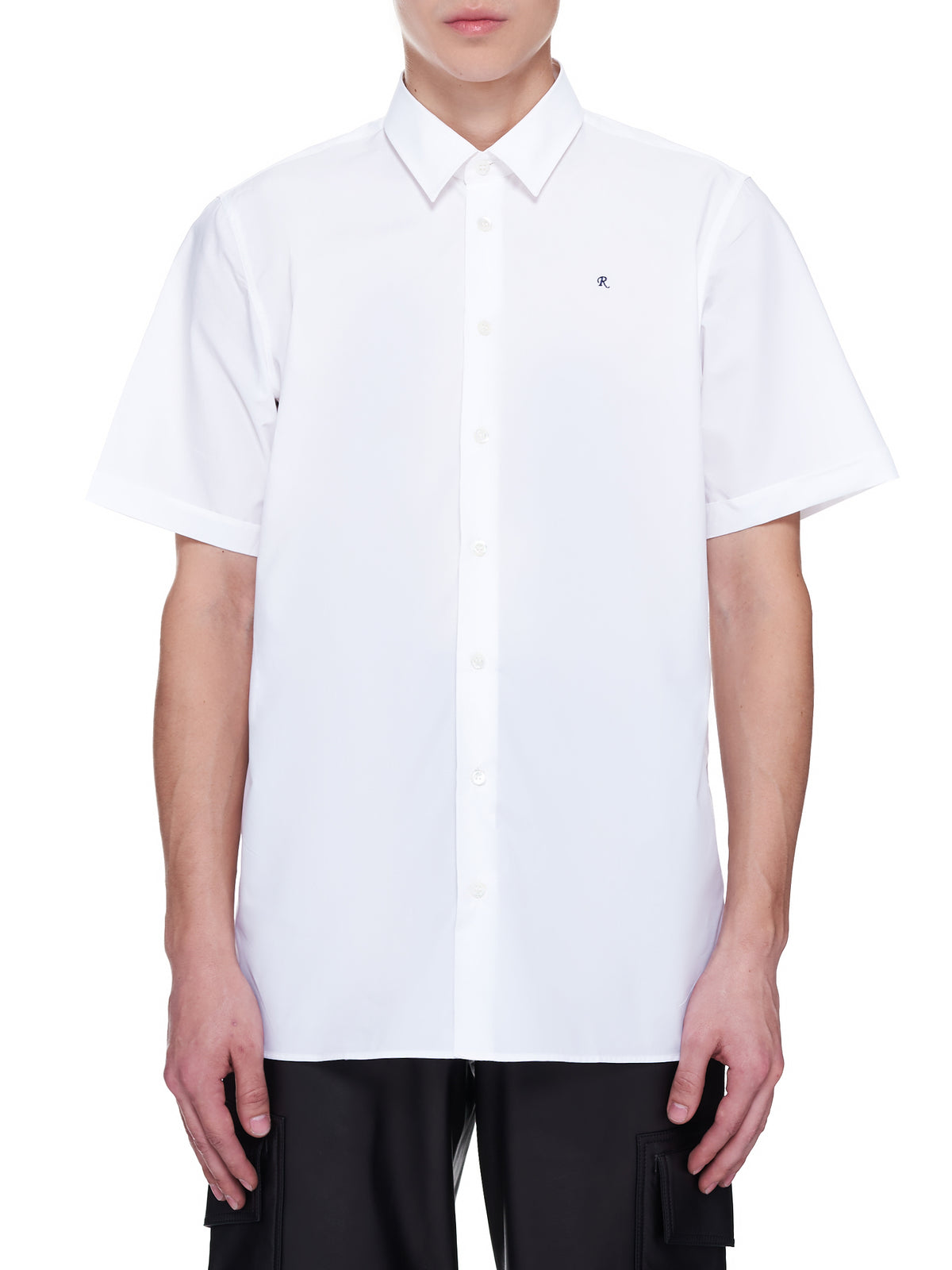 Classic Short Sleeve Embroidered Shirt (A01-201-10007-WHITE)