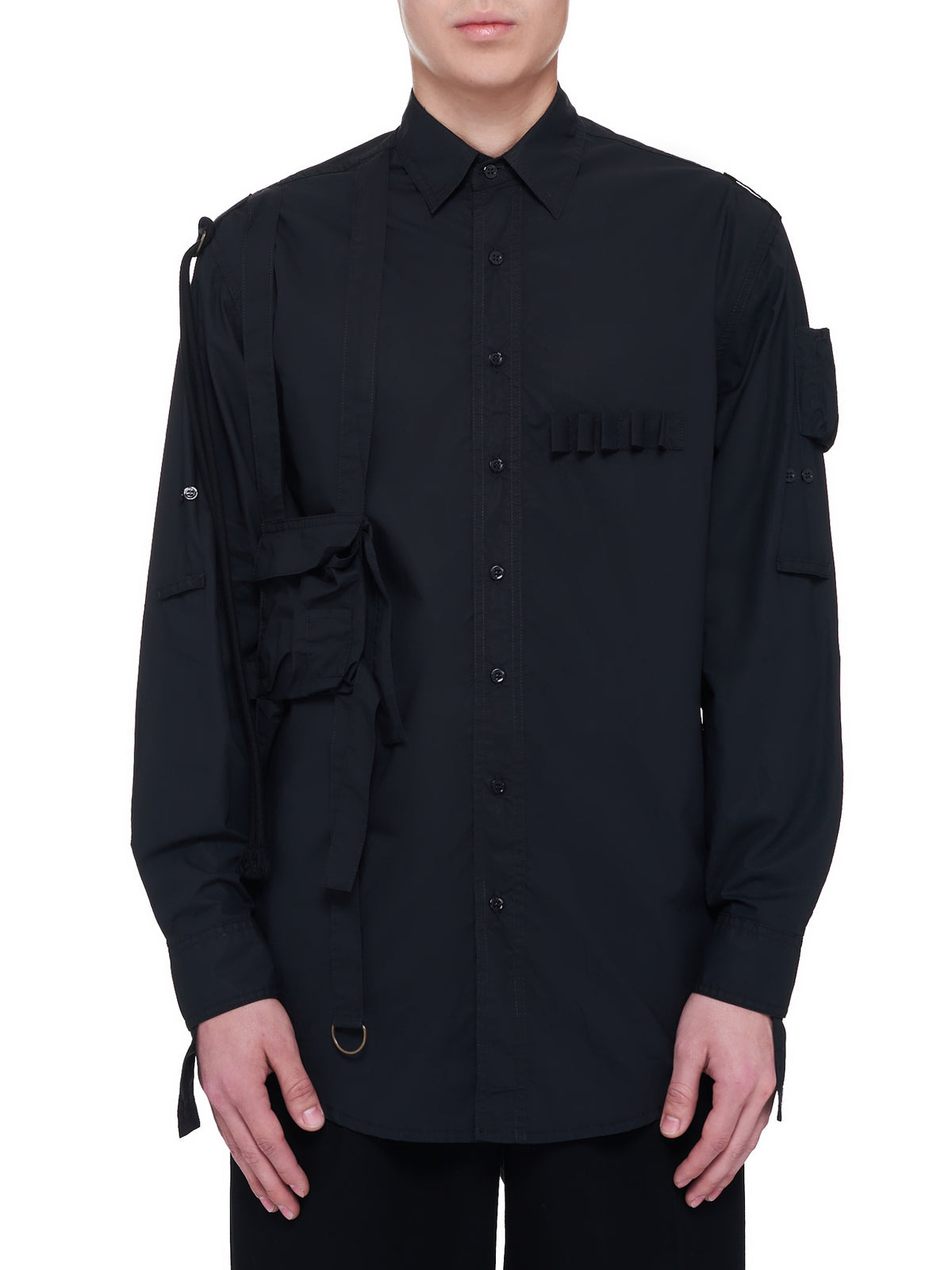 Outside Straps Pocket Shirt (A01-206-10007-BLACK)