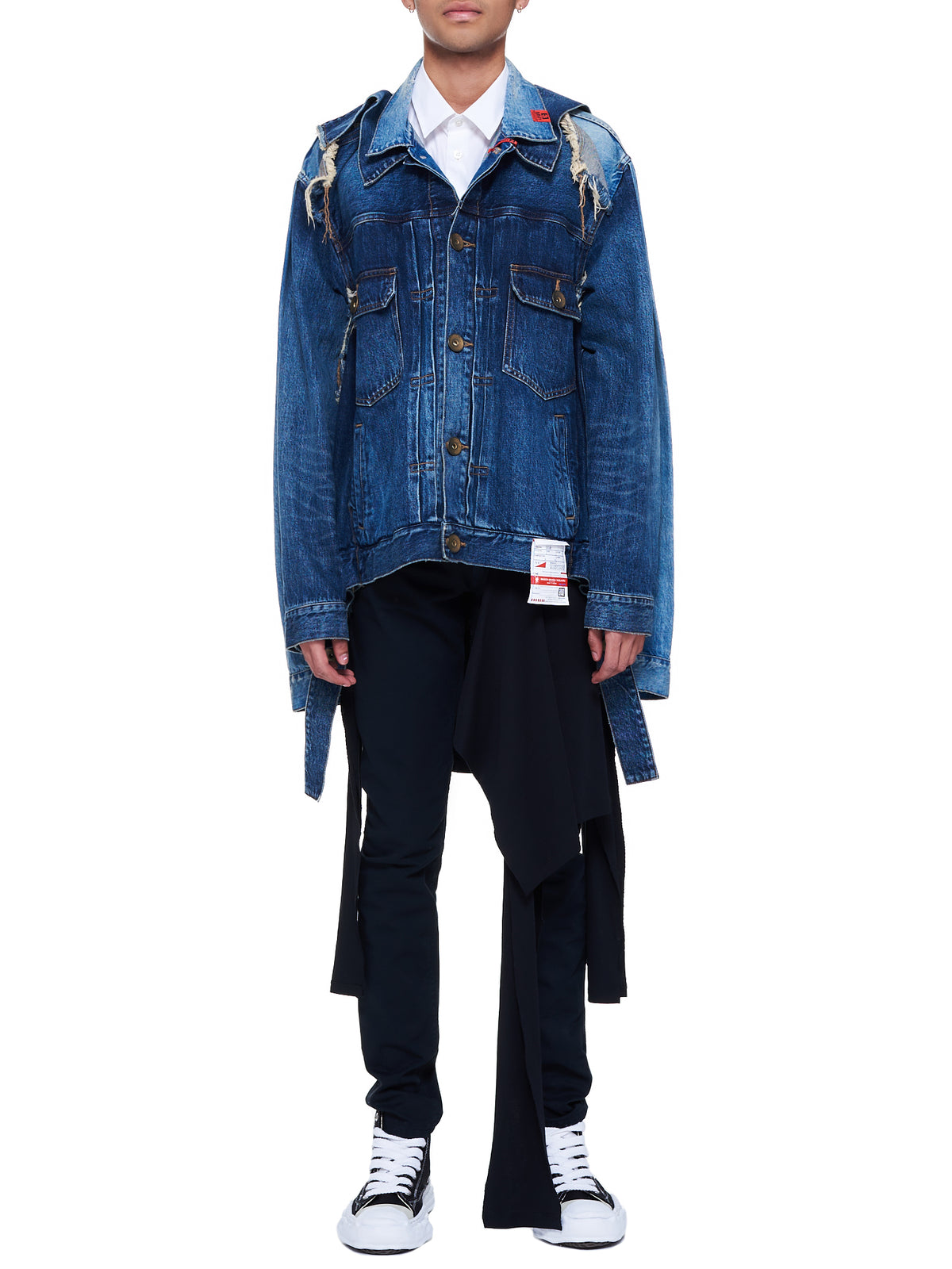 Broken Layered Denim Blouson Jacket (A06BL022-INDIGO)