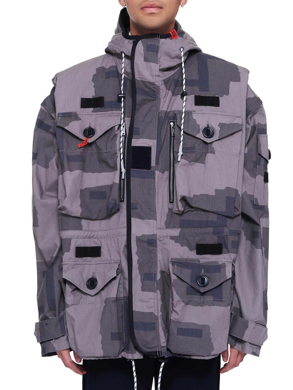 Detachable Military Blouson Jacket (A06BL062-GRAY)
