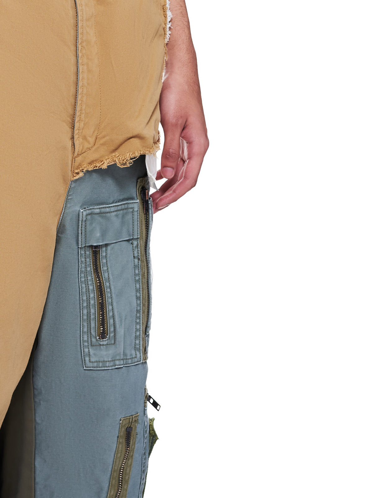 Front Covered Chino Shorts (A06PT053-BEIGE)