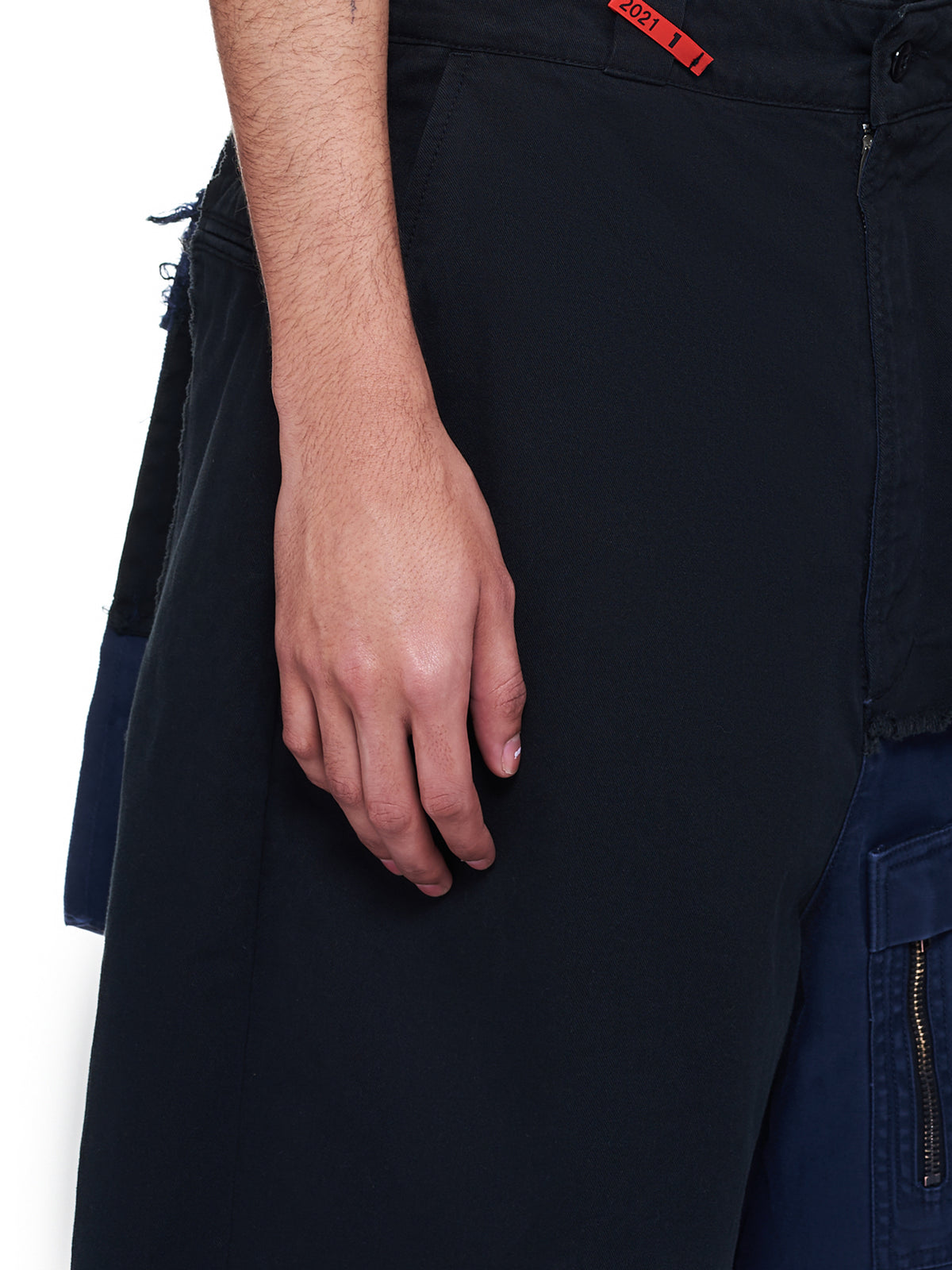 Front Covered Chino Shorts (A06PT053-BLACK)