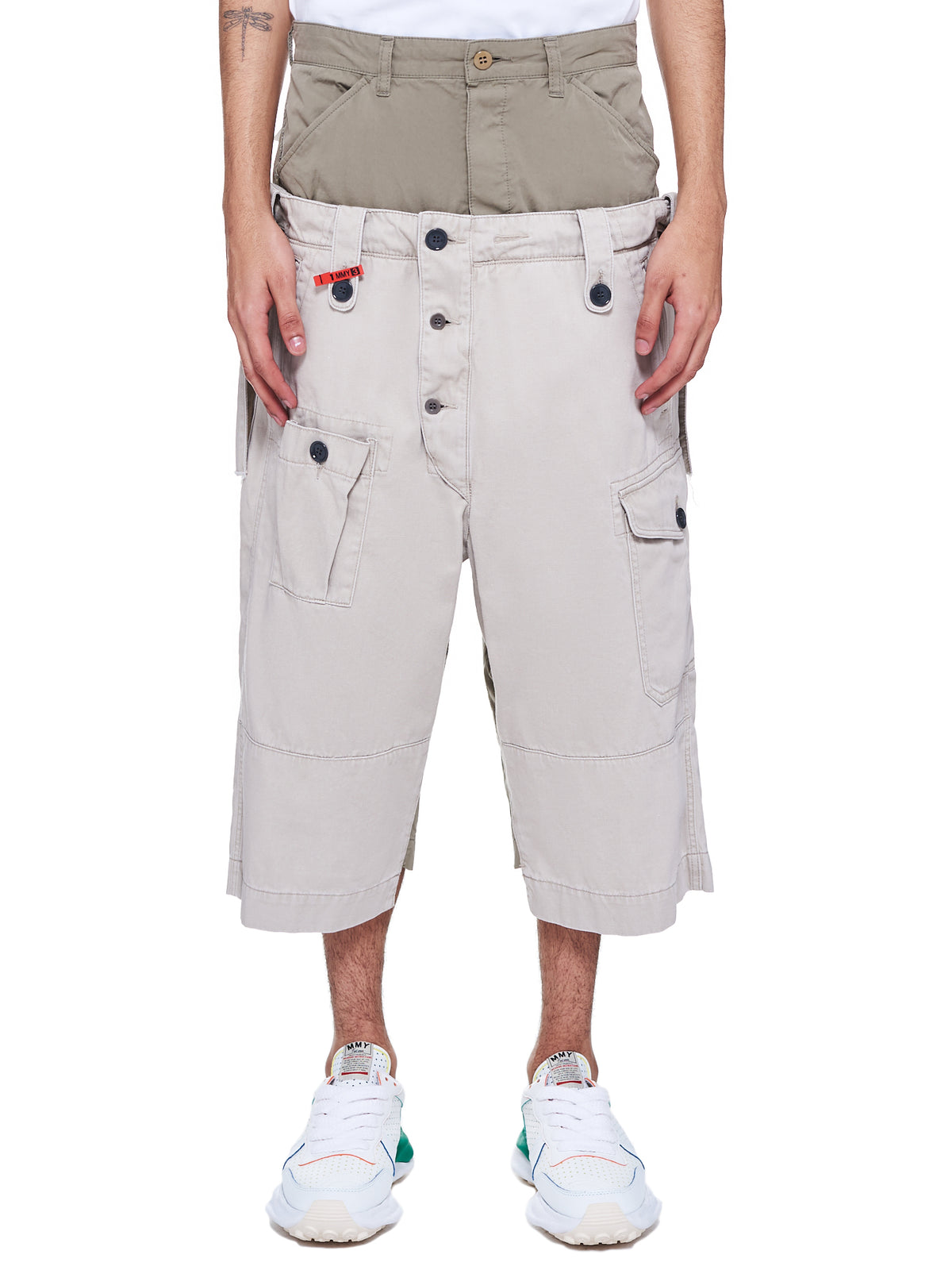 Partly Double Pants (A06PT062-KHAKI)