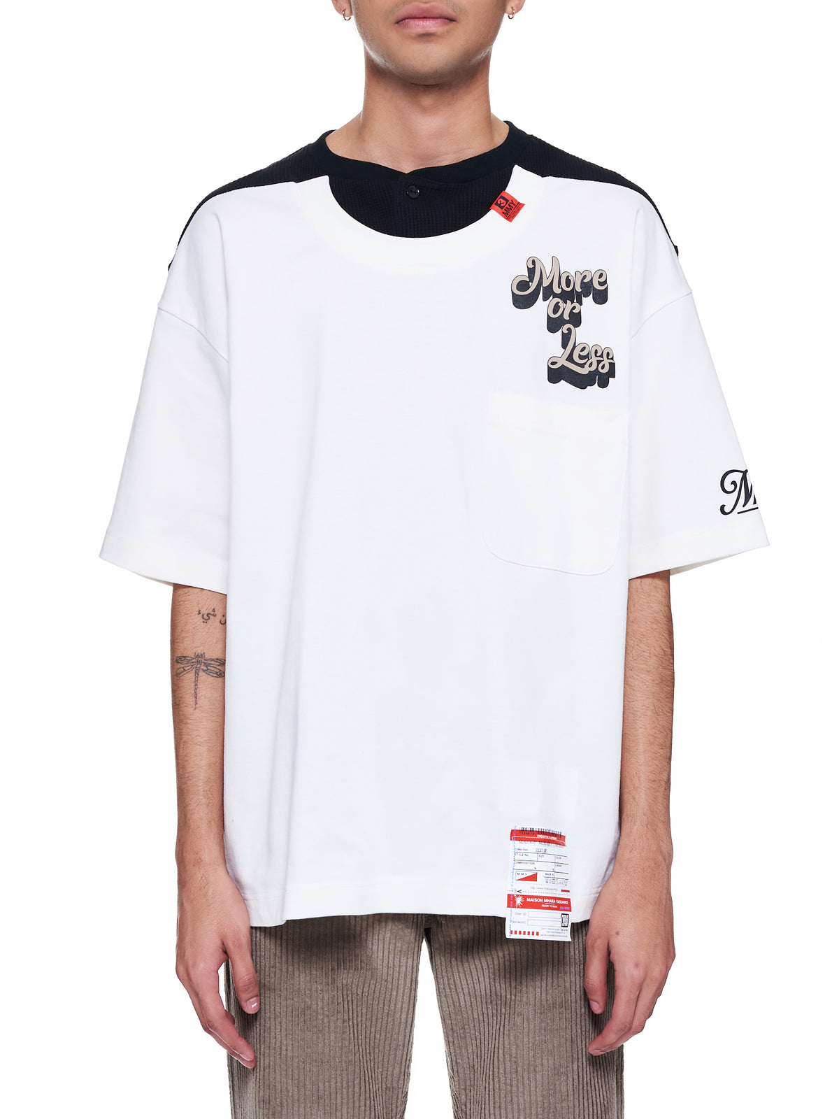 Border Docking T- Shirt (A06TS641-WHITE)