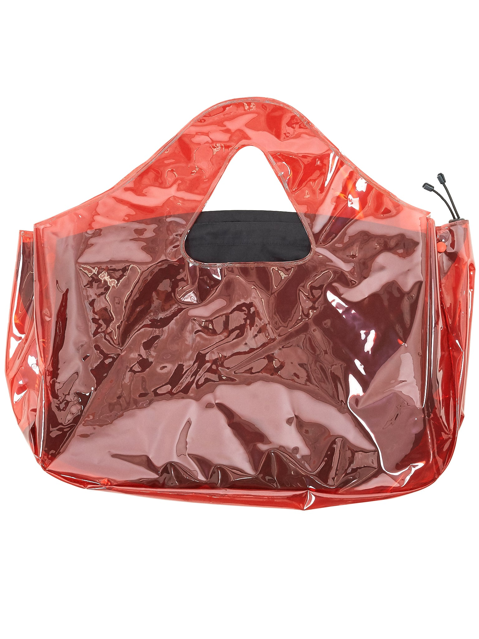 Layered Drawstring Handbag (A10-TRANSPARENT-RED)
