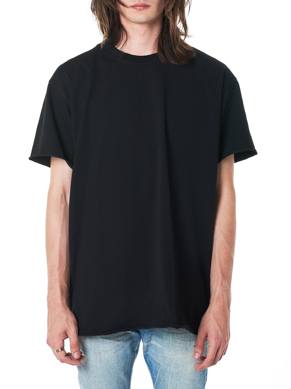 Raw Trim Crewneck Tee (A120M1410A-BLACK)