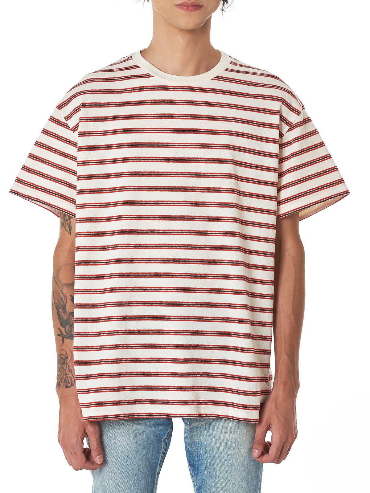 John Elliott Striped Tee Shirt - Hlorenzo Front