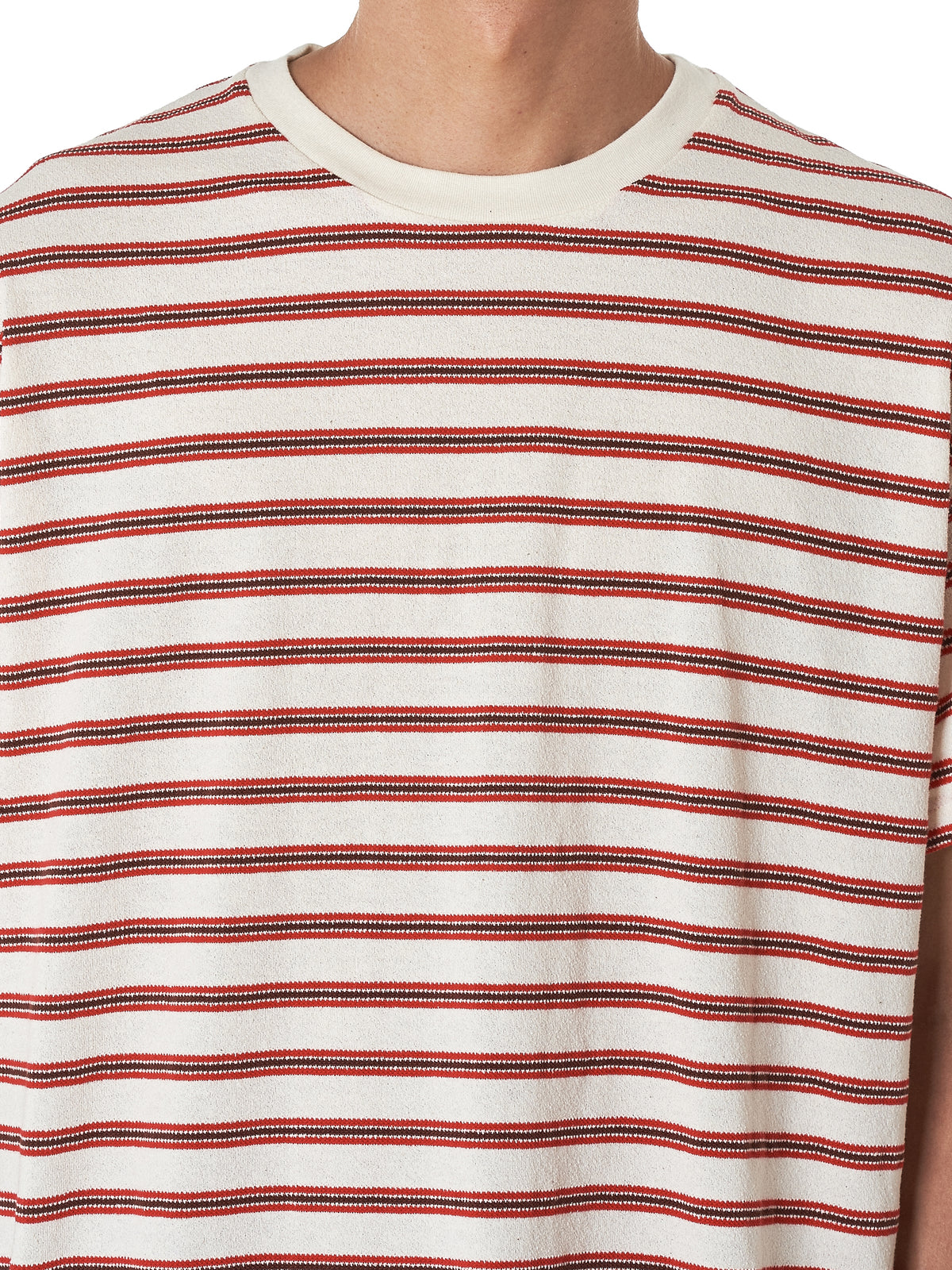 John Elliott Striped Tee Shirt - Hlorenzo Detail 2