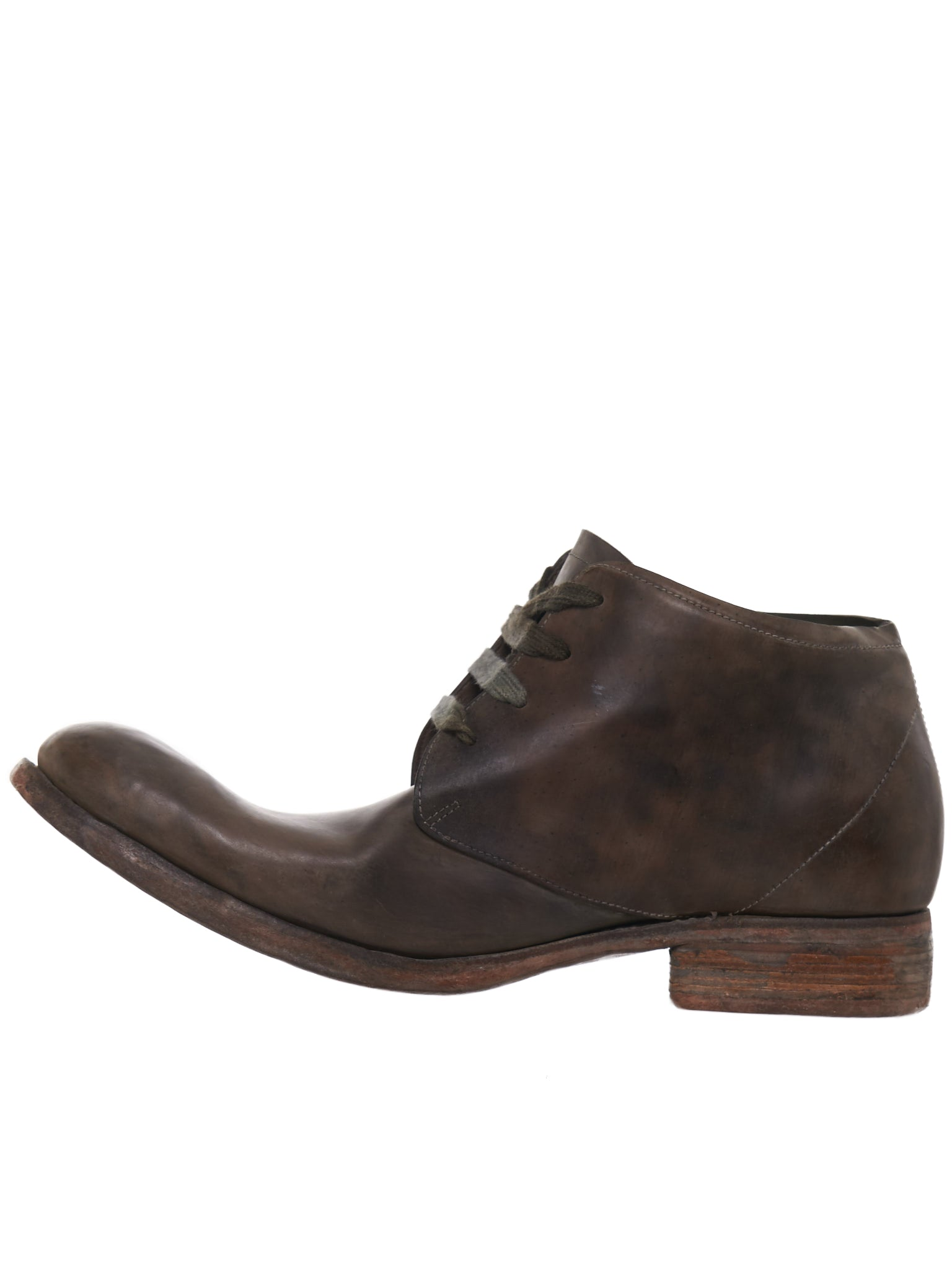 Reverse Horse Leather Boot (A18-CORDOVAN-GREEN)