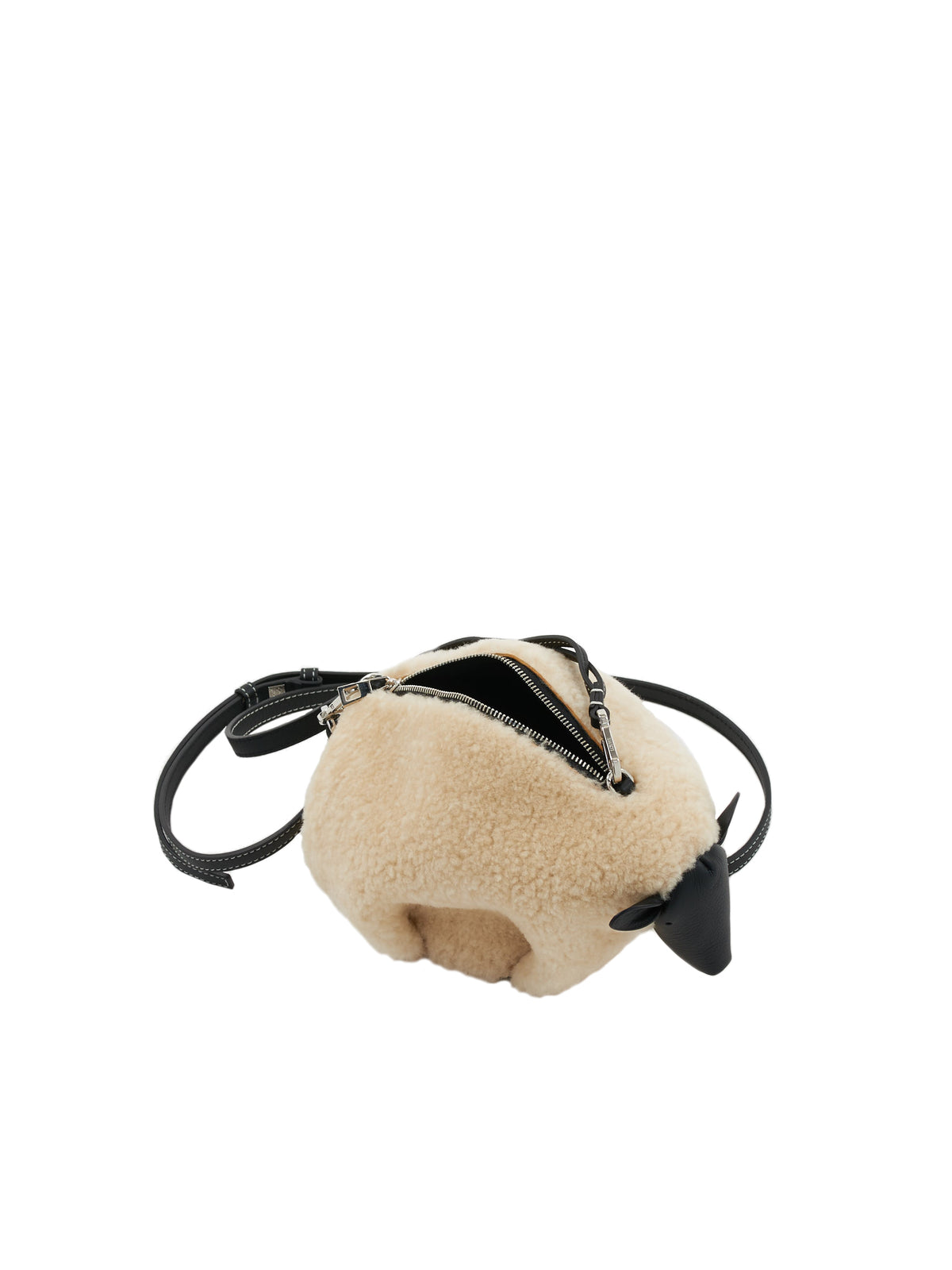 Sheep Bag (A623SH1X01-NATURAL-BLACK)