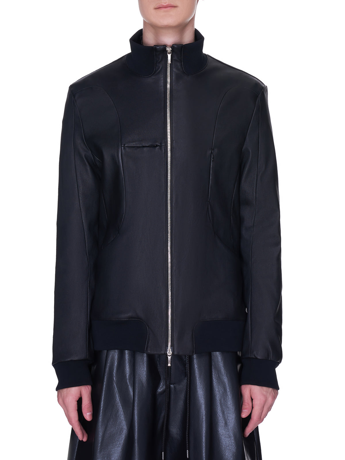 Attachment Leather Jacket | H.Lorenzo - front