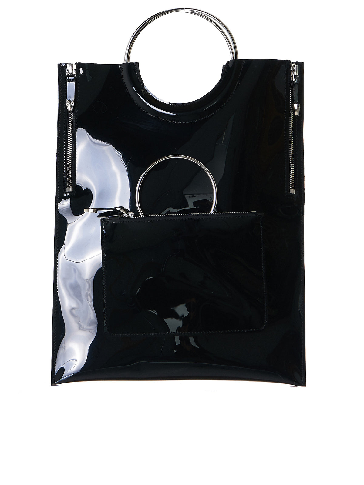Structured Loop Handle Bag (AG609-BLACK) - H. Lorenzo