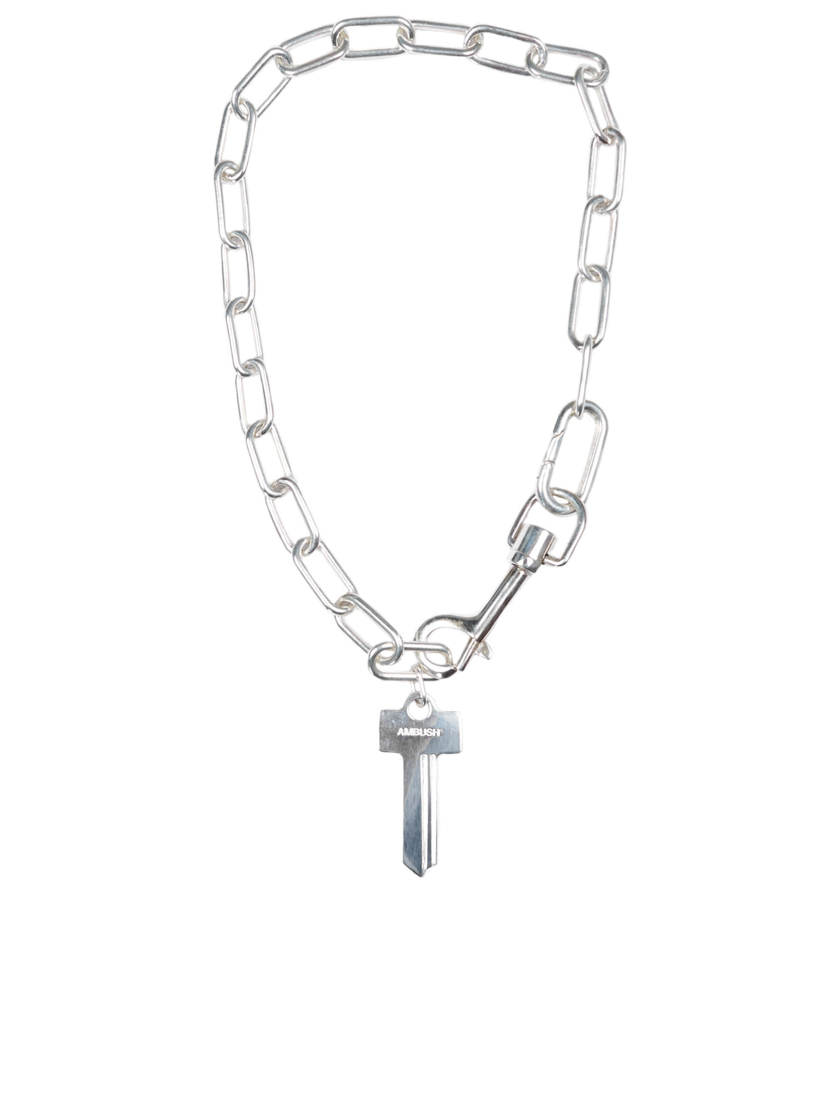 Chain Link Key Necklace (AMBPT701-SILVER)