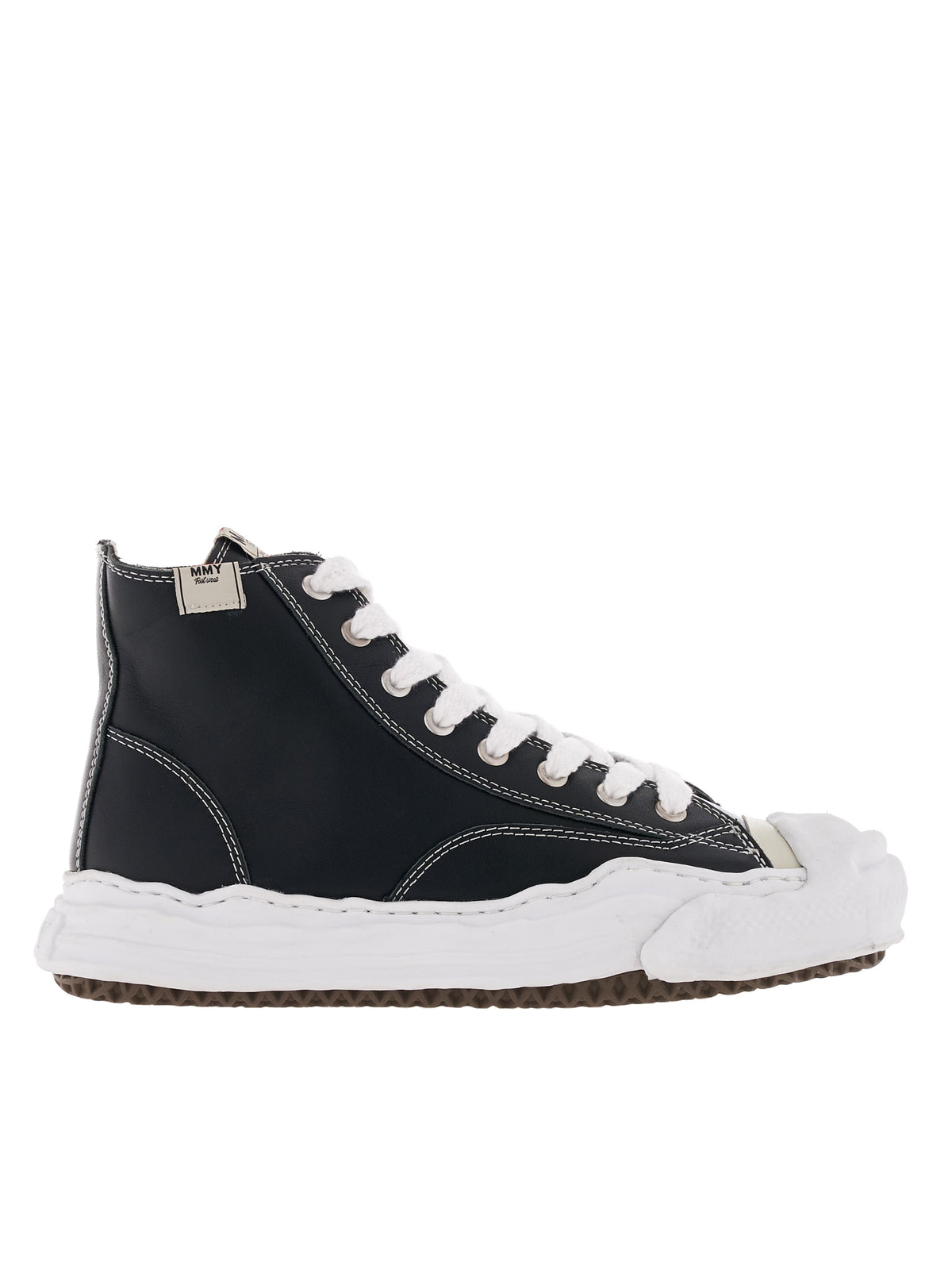 Leather Hightop Sneaker (A05FW703-BLACK)