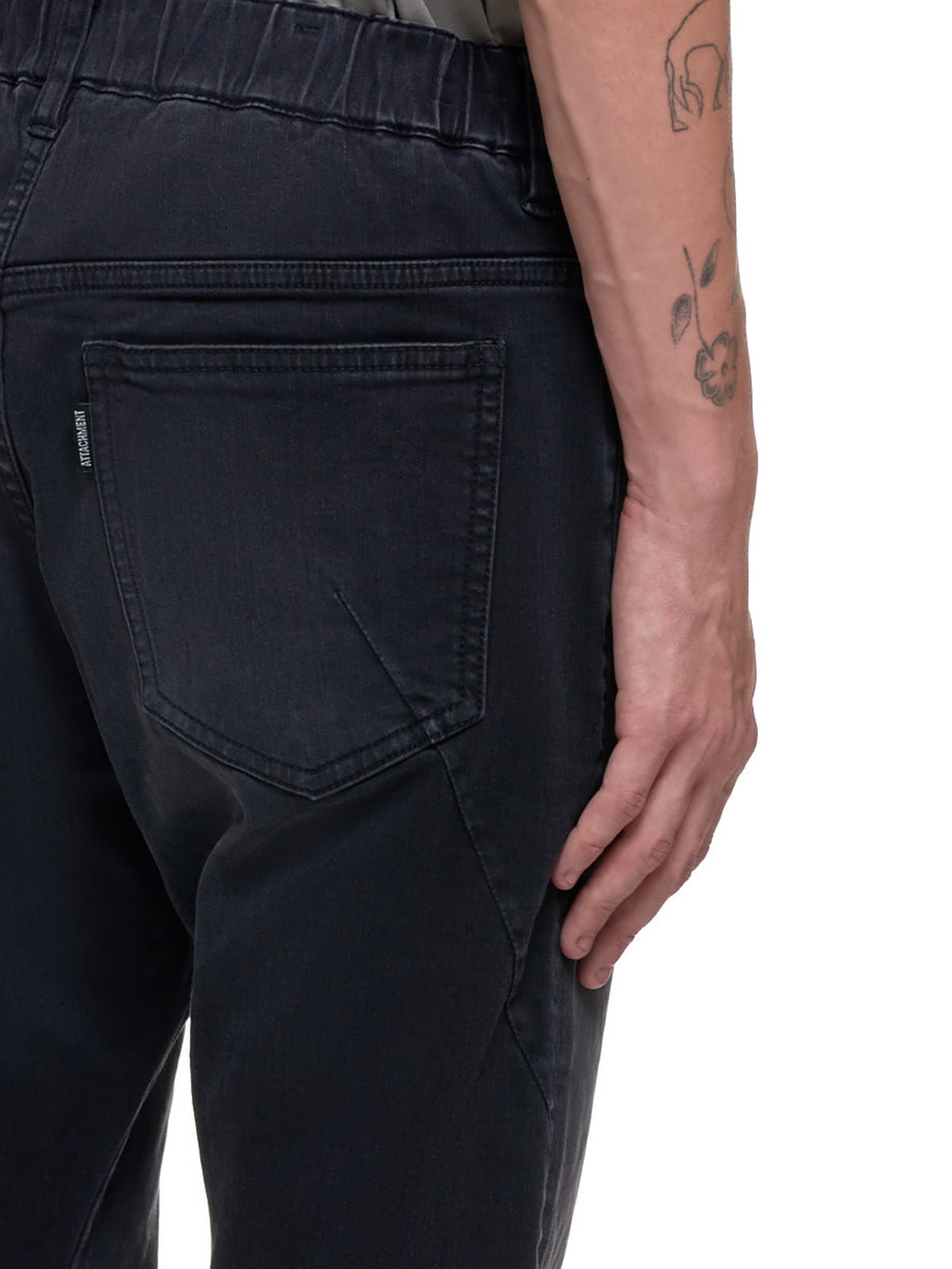 Washed Denim Trouser (AP03-207-CHARCOAL)