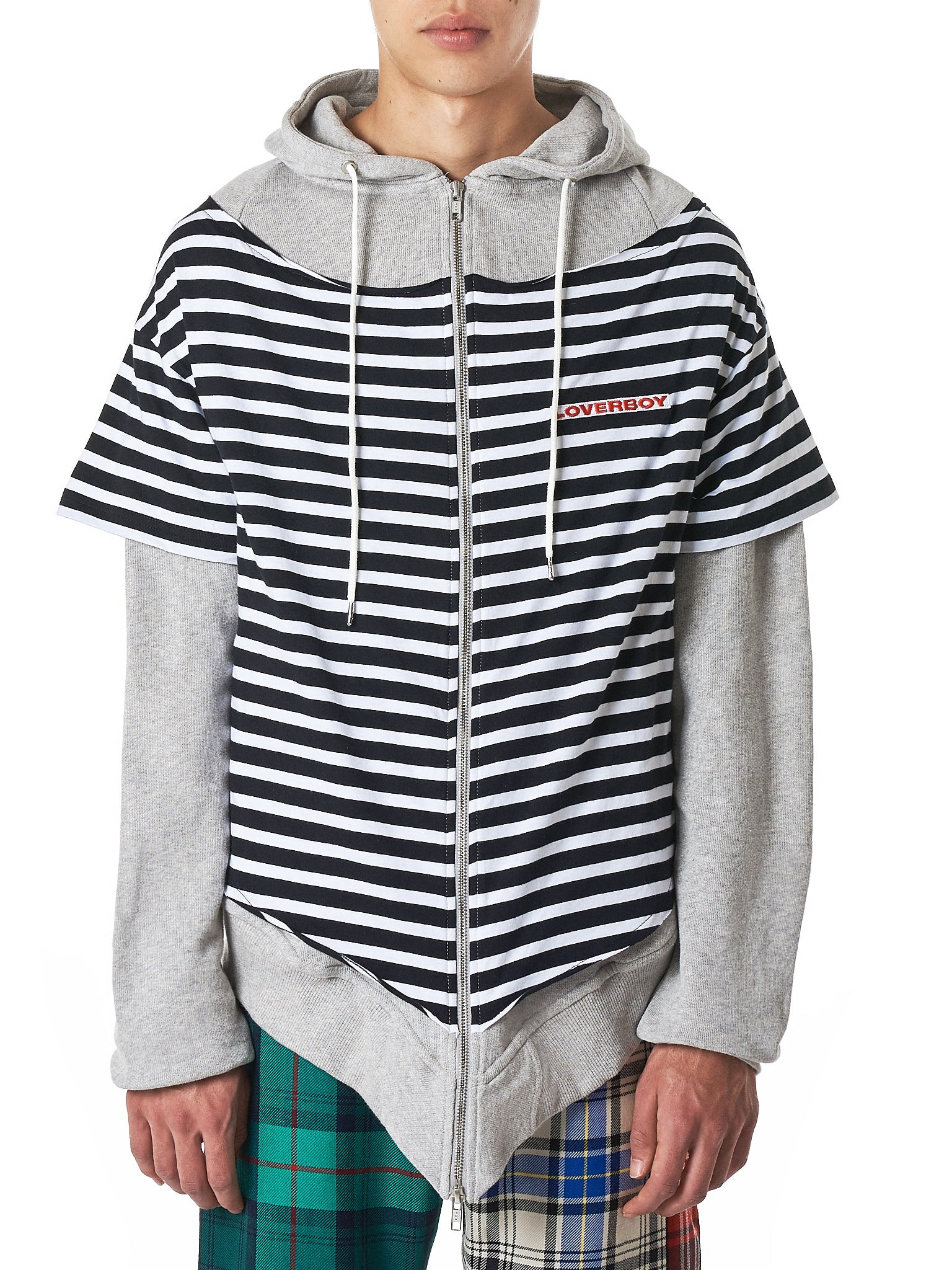 Charles Jeffrey Loverboy Striped Hoodie - Hlorenzo Front