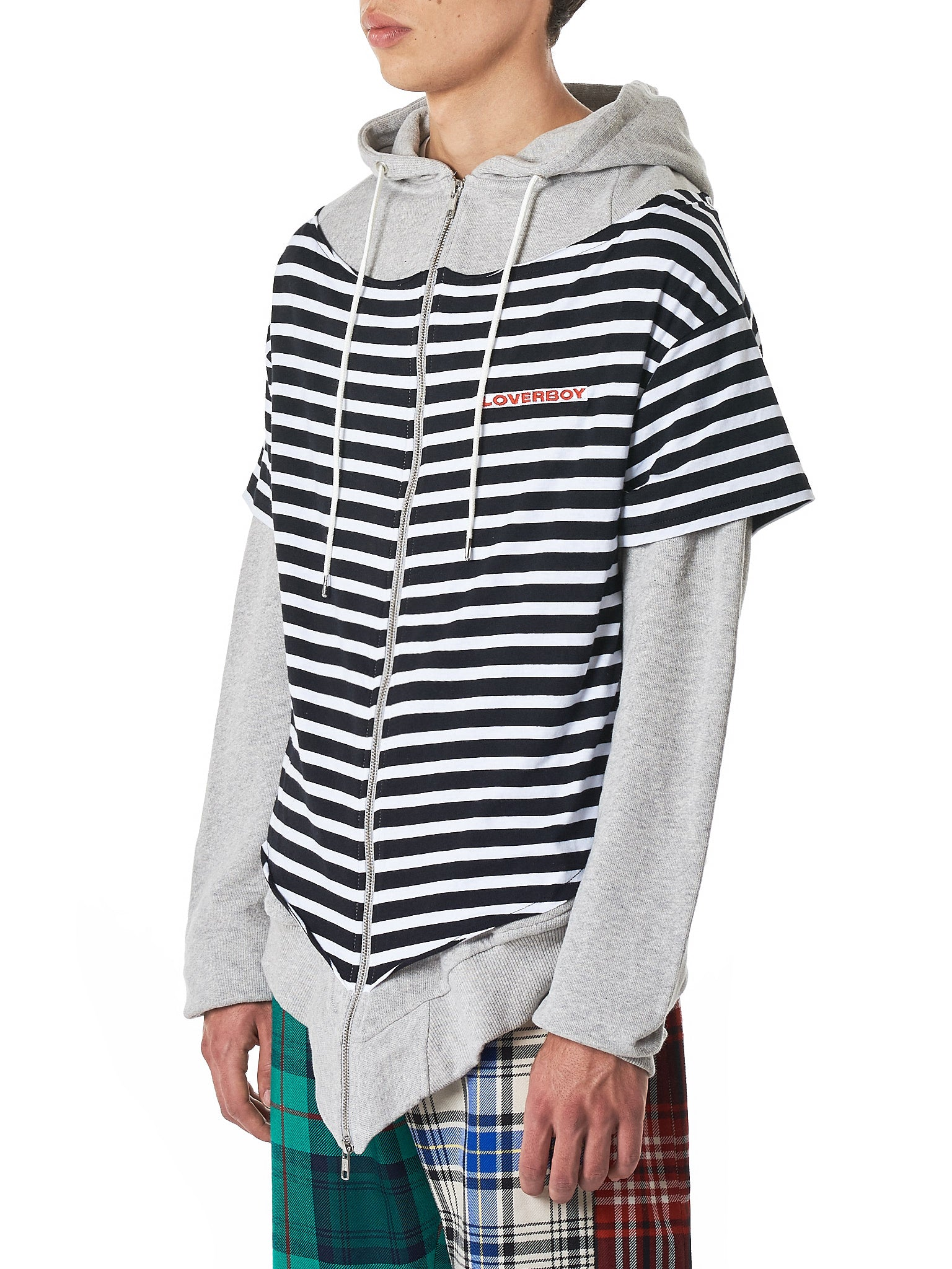 Charles Jeffrey Loverboy Striped Hoodie - Hlorenzo Side