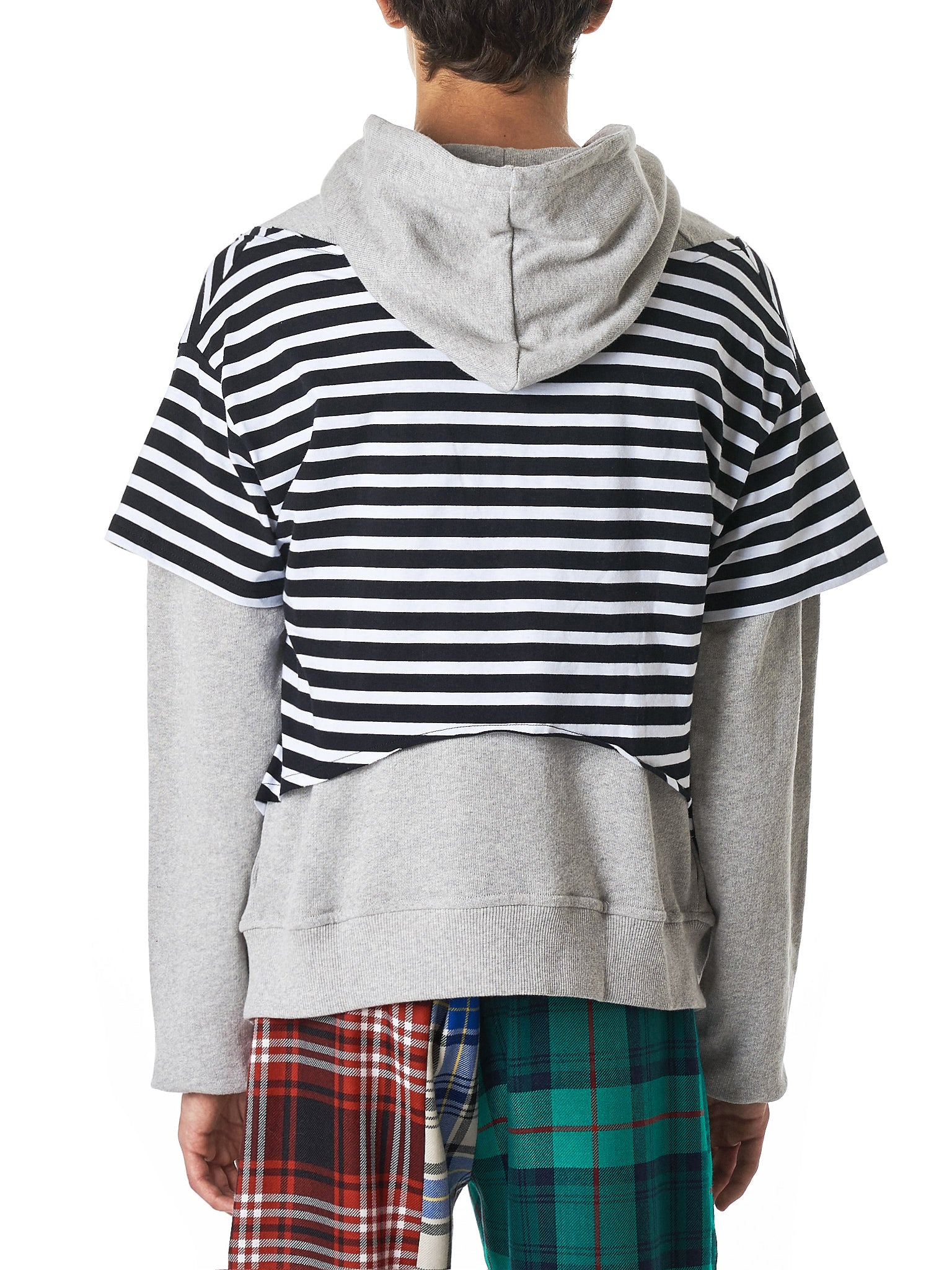 Charles Jeffrey Loverboy Striped Hoodie - Hlorenzo Back