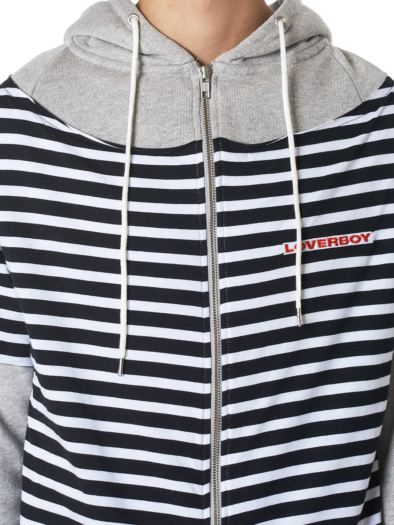 Charles Jeffrey Loverboy Striped Hoodie - Hlorenzo Detail 2