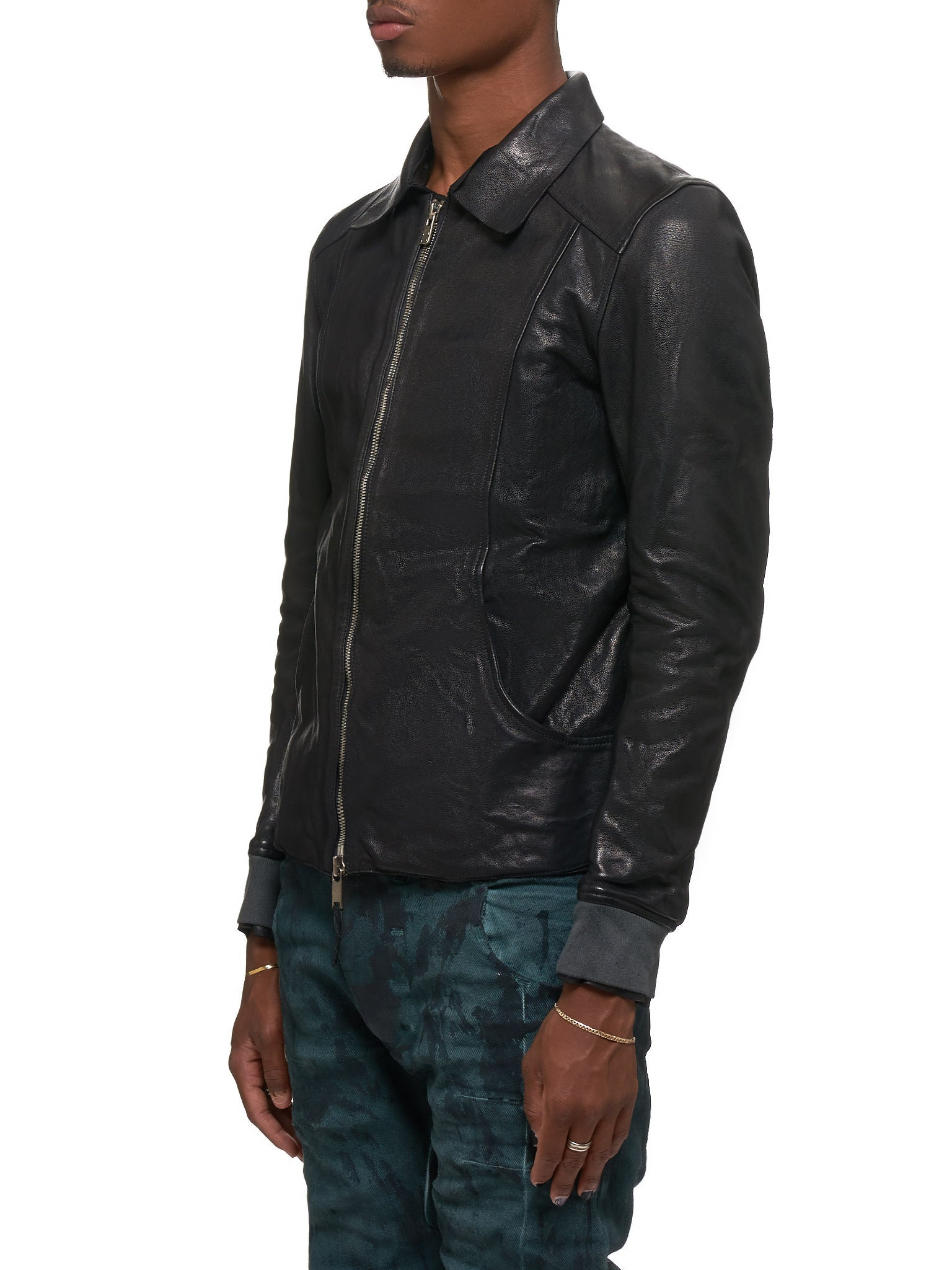 Guidi Leather Jacket - Hlorenzo Side