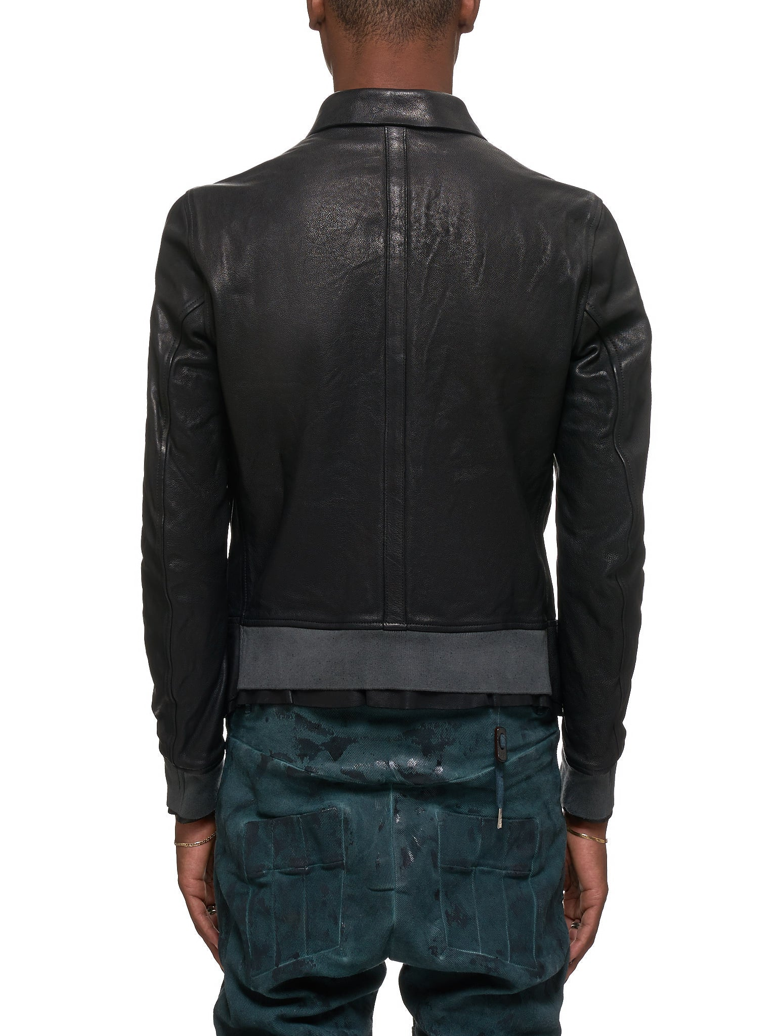 Guidi Leather Jacket - Hlorenzo Back