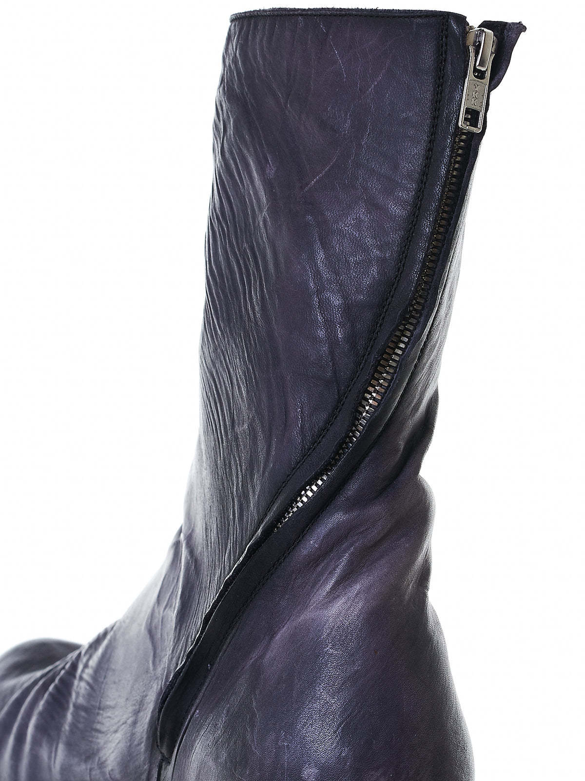 Structural Zip Leather Boots (AW14/15 ST2 CAVALLO NERO)