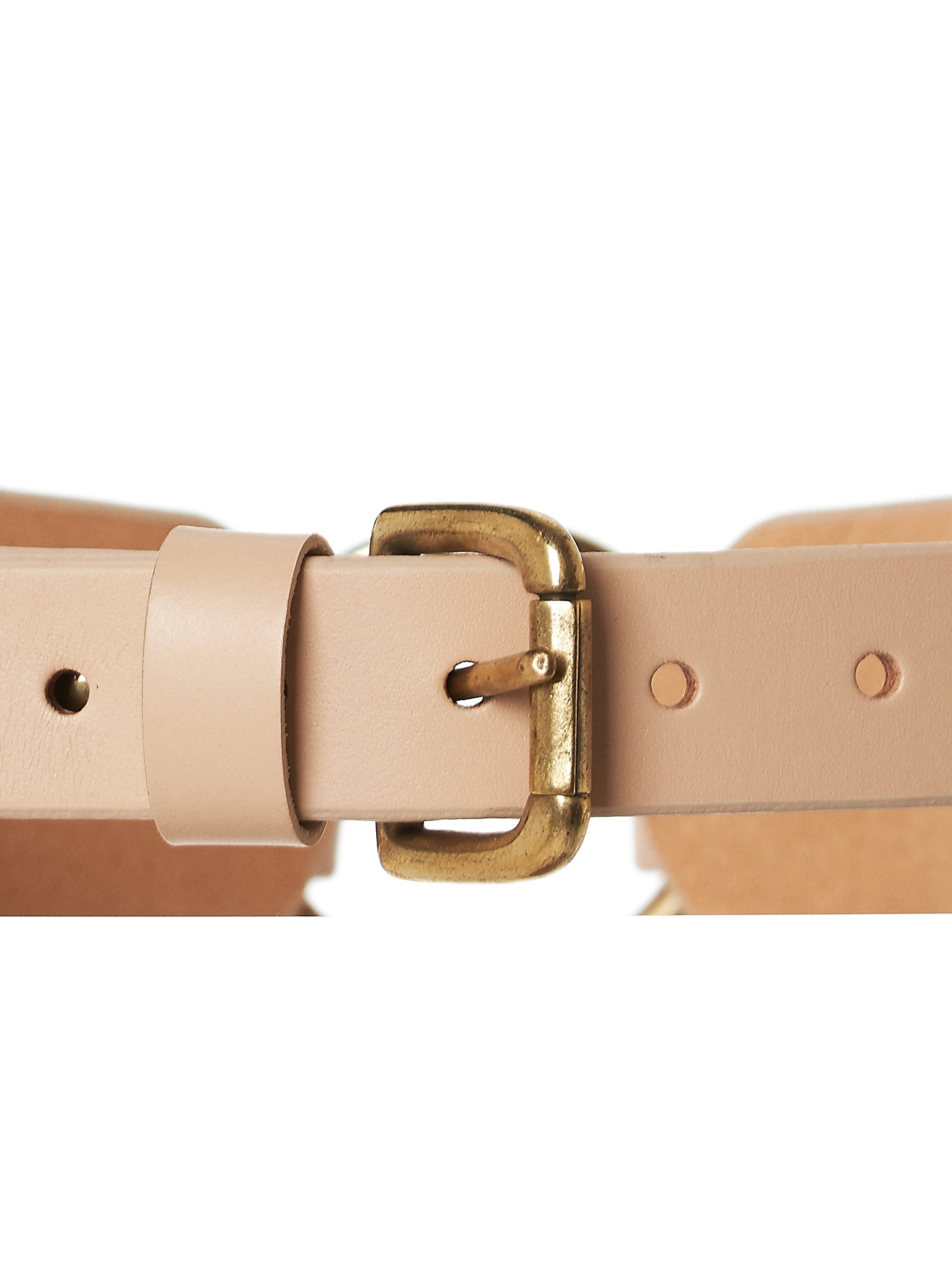 Paneled Buckled Belt (AW17-BLT-CHNKOR-NUDE)