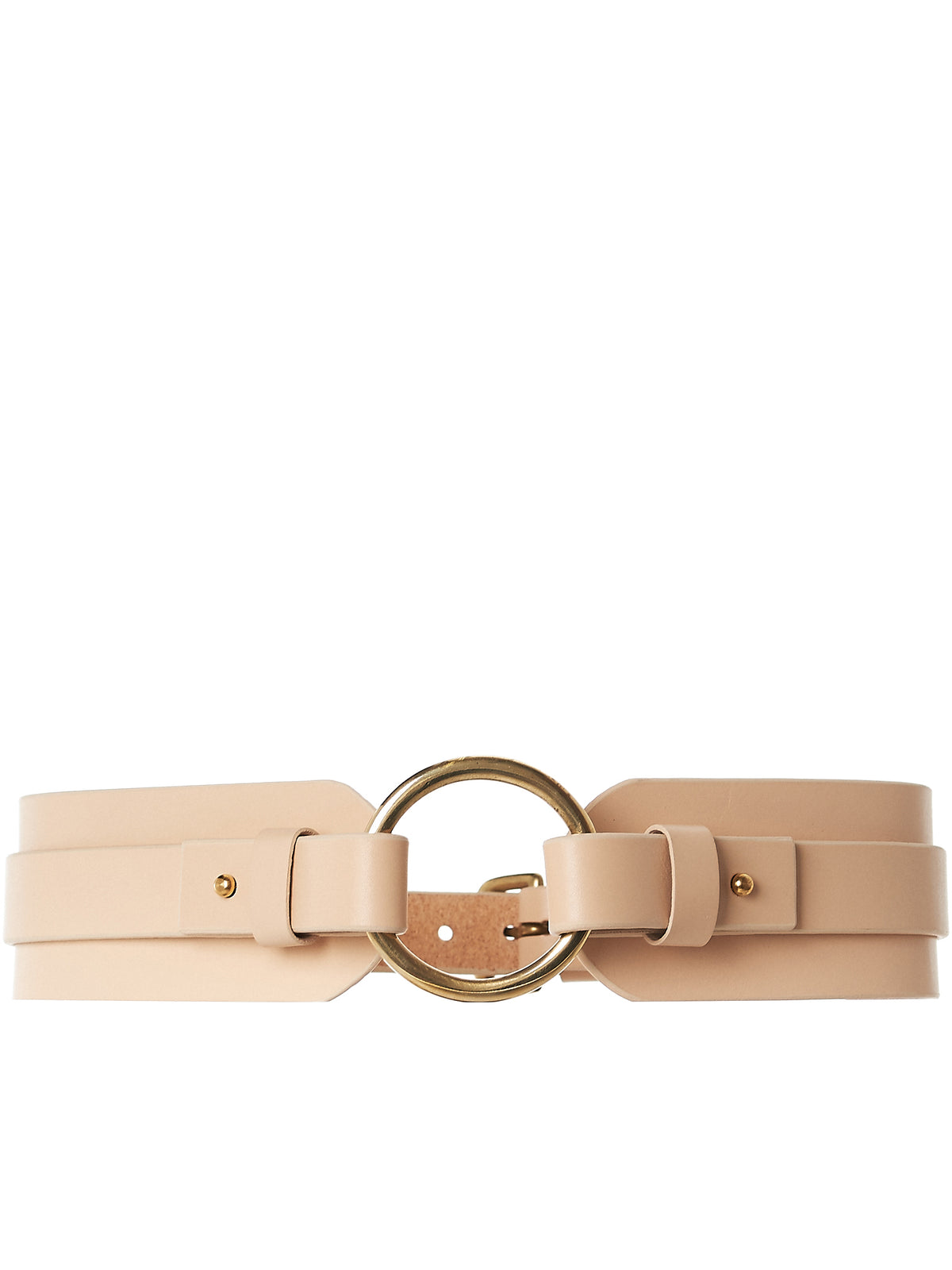 Paneled Buckled Choker (AW17-BLT-CHNKOR-NUDE)