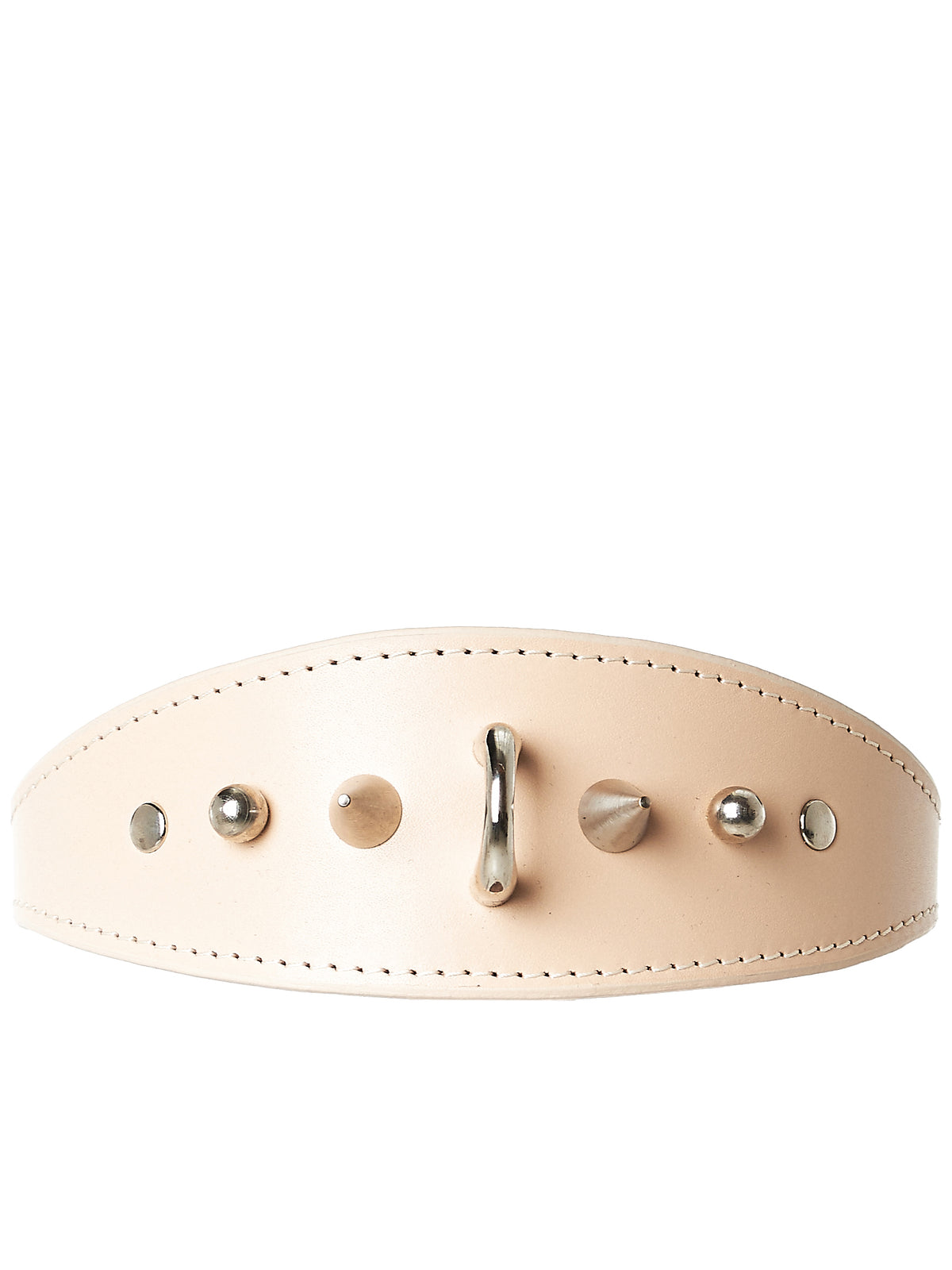 Studded Leather Choker (AW17-CLR-STUD-NUDE)