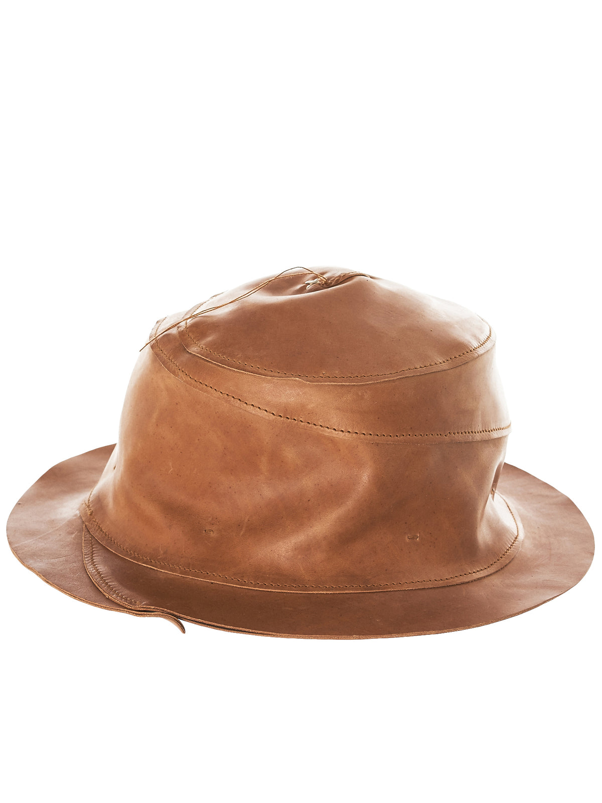 Spiral Leather Hat (AW171-VAN-1-0-NATURAL)