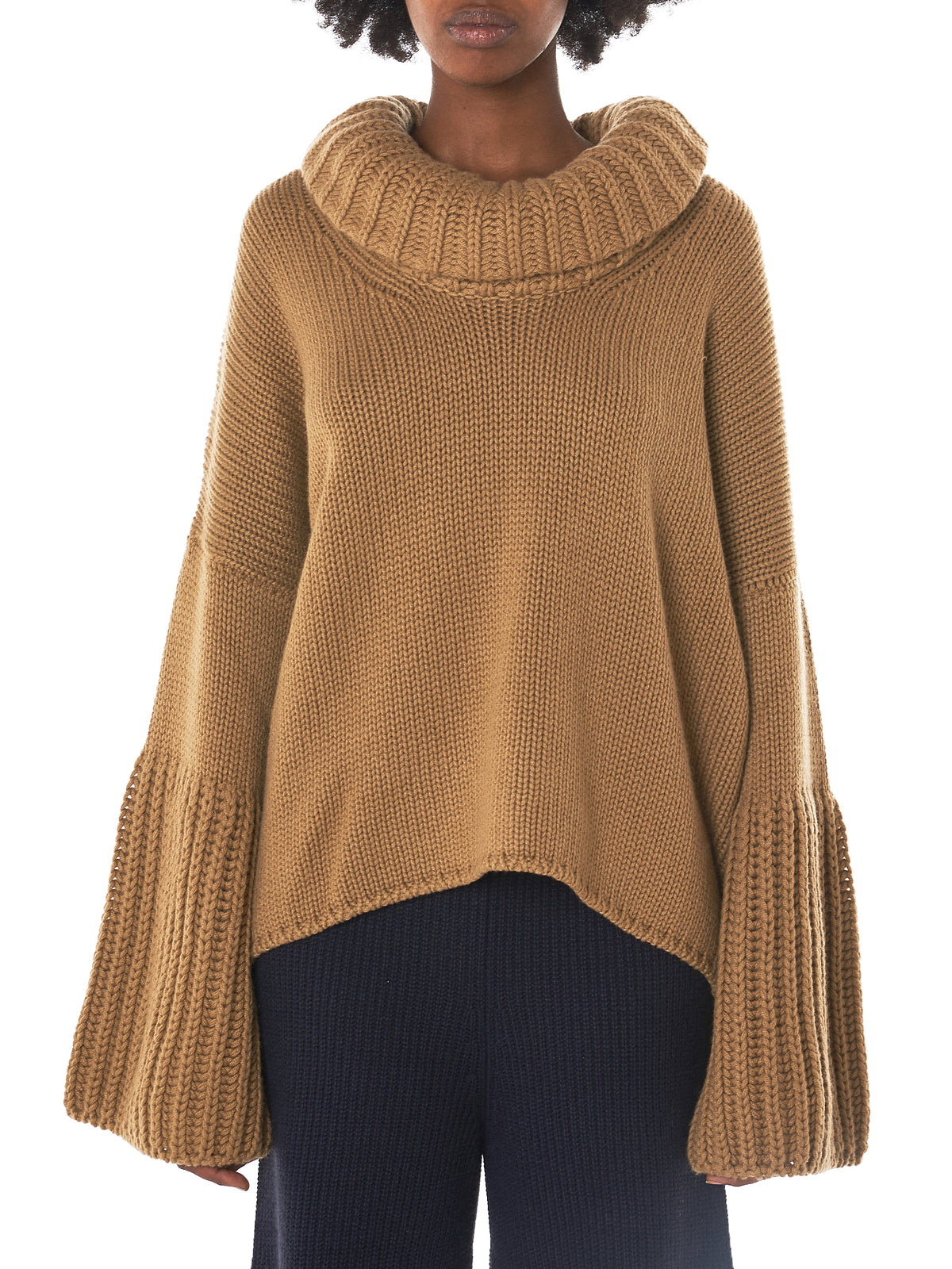 Courcheval Cashmere Turtleneck (AW3KS020-CAMEL)