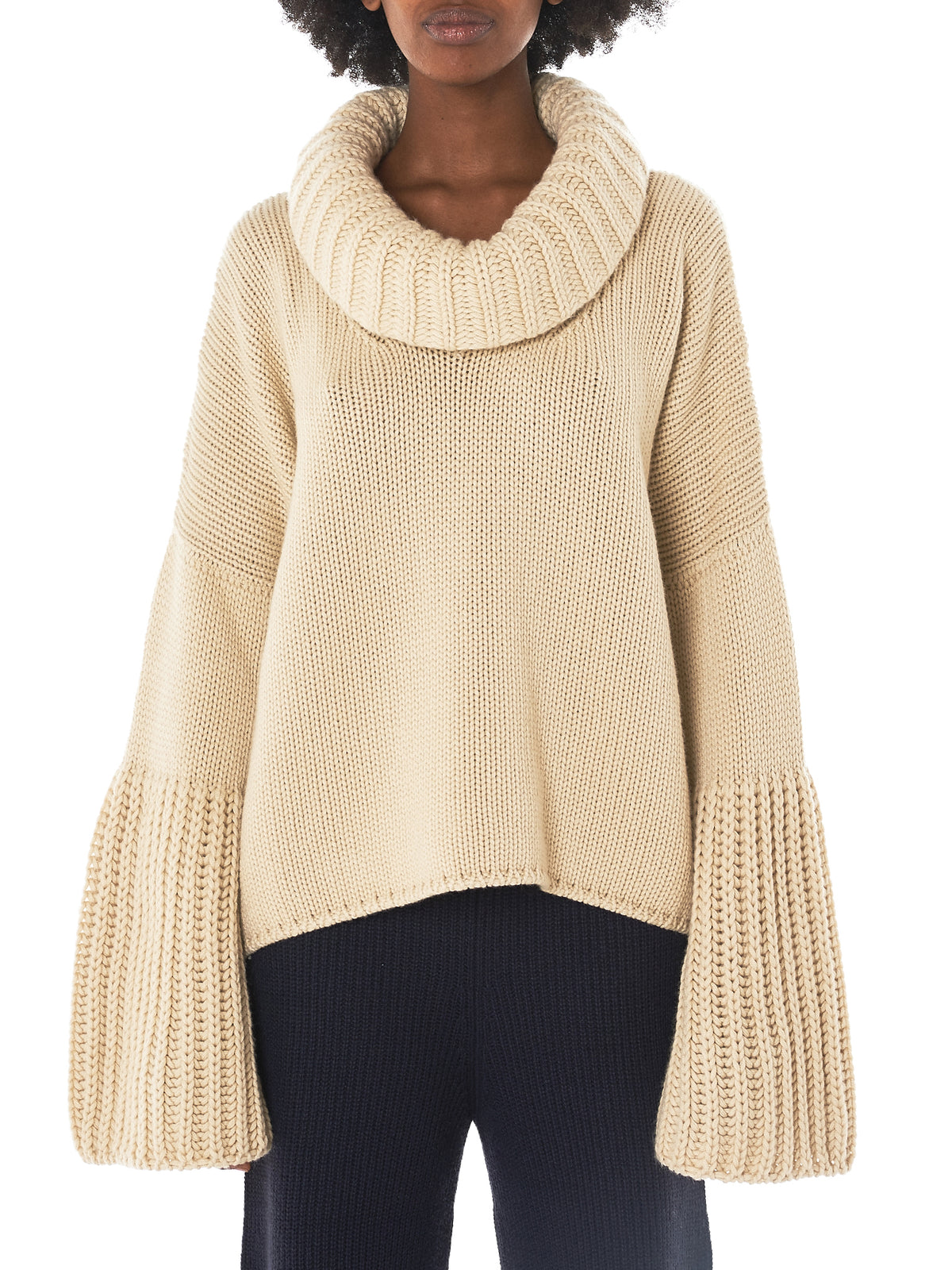 Courcheval Cashmere Turtleneck (AW3KS020-WHITE-GOLD)