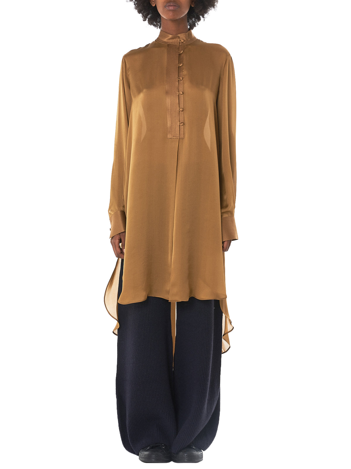 Lee Silk Wrap Shirt (AW3T034-CAMEL)