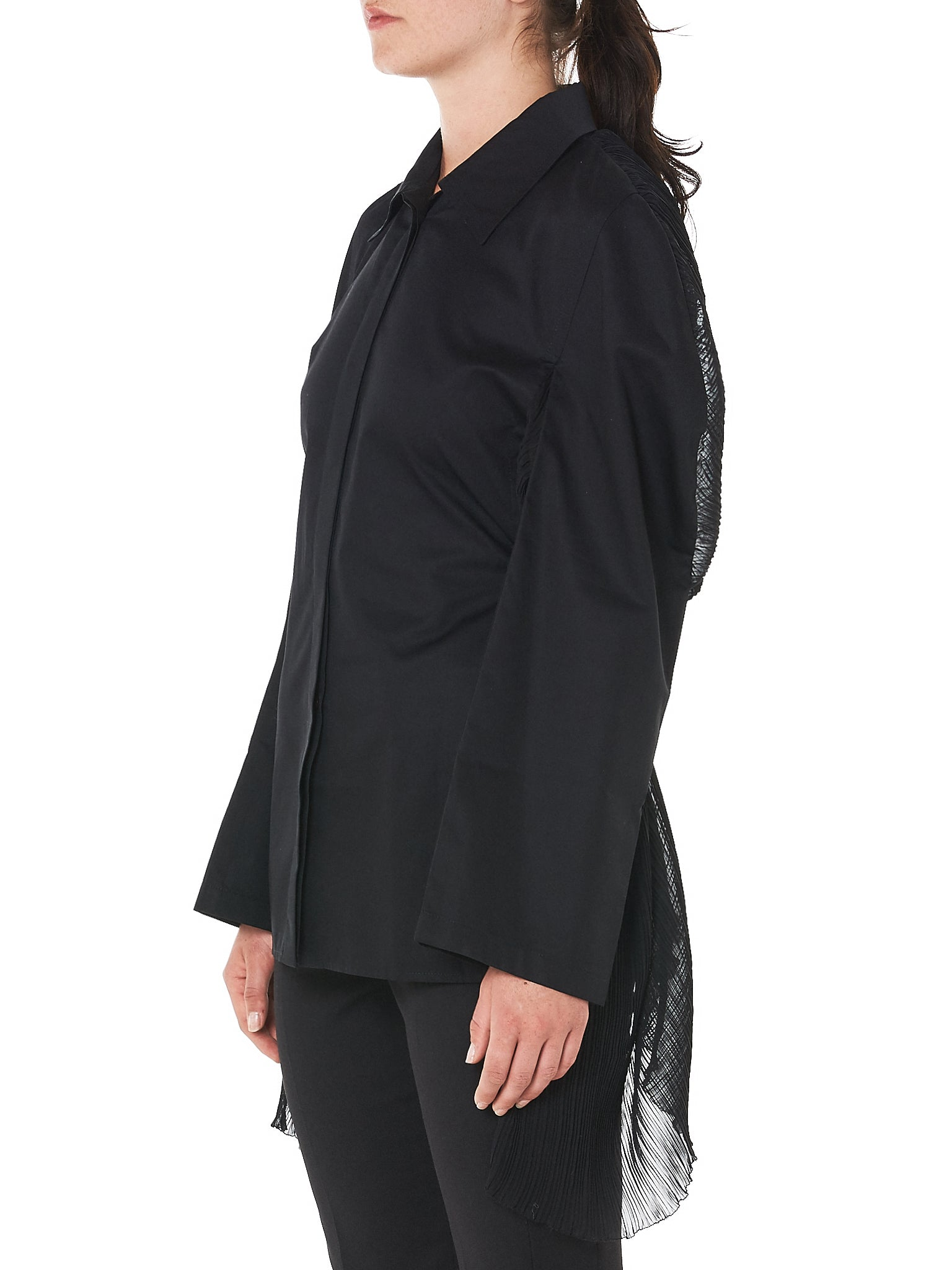Paneled Shirt (B02F18C-BLACK)