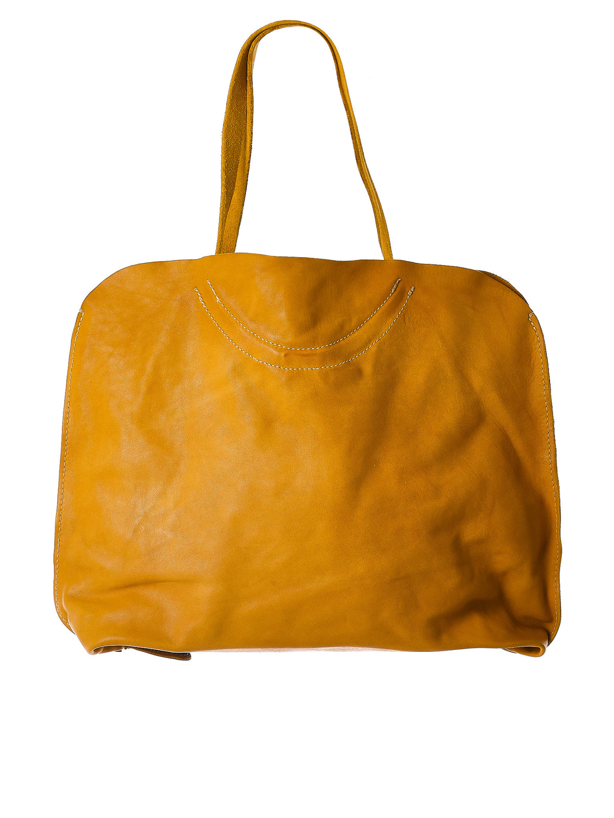 Object-Dyed Leather Tote (B10-SOFT-HORSE-FG-CV29T) - H. Lorenzo
