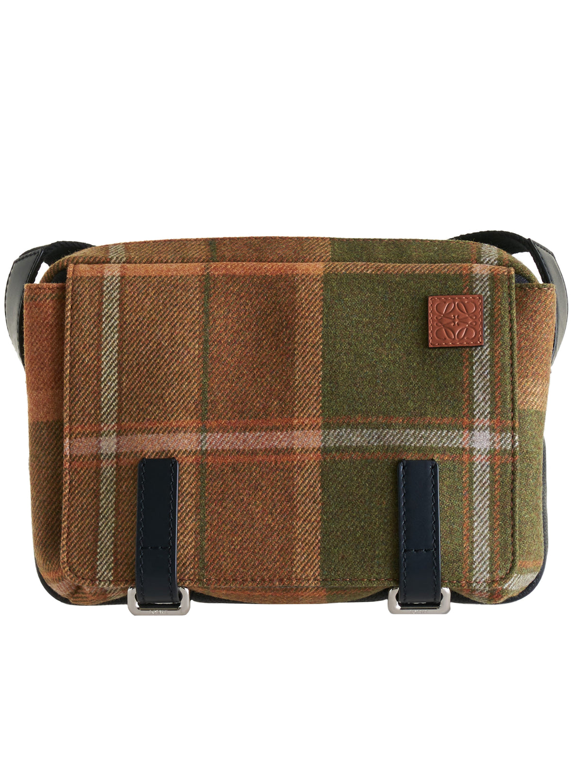 Wool Commuter Bag (B553A72X09-TAN-BLACK)