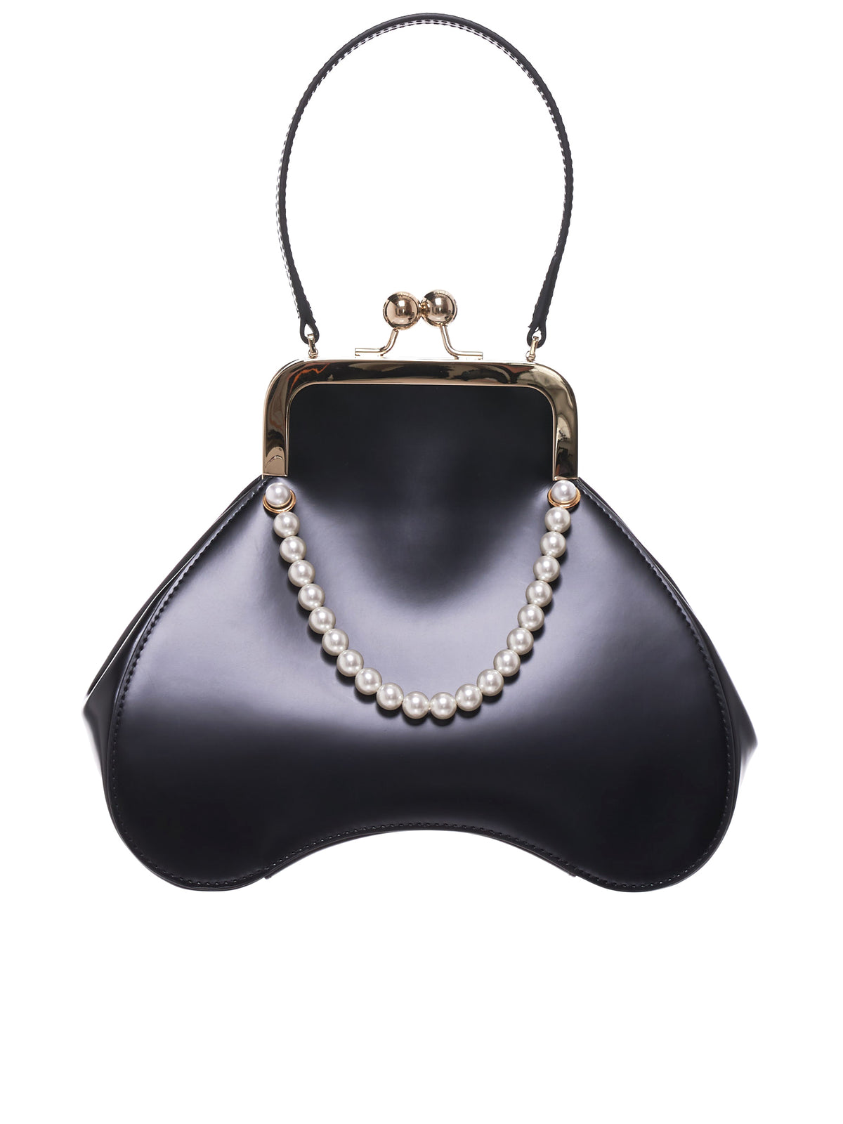 Leather Bean Bag (BAG58B-0740-BLACK-PEARL)