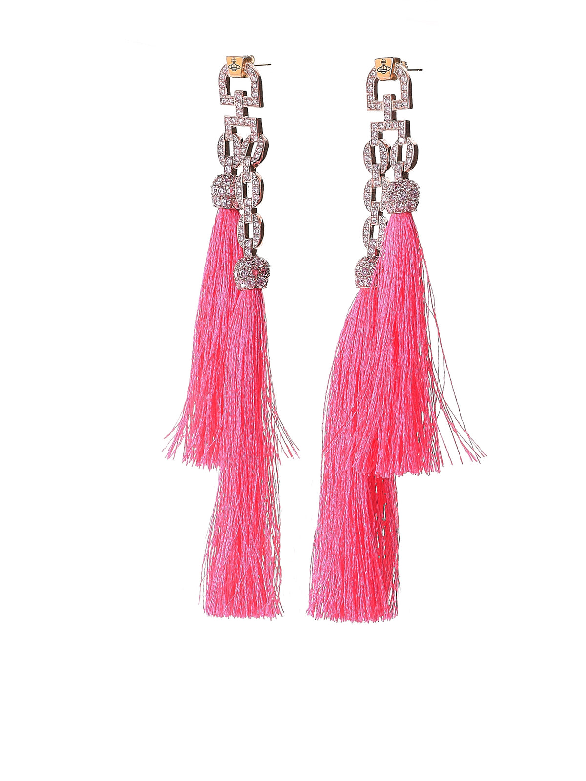 Tasseled Earrings (BE1297-2-ELECTRA-SMALL-PNK)