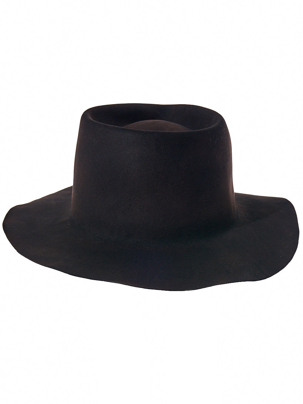 Washed Fedora (BHPTS007 EB BLACK) - H. Lorenzo