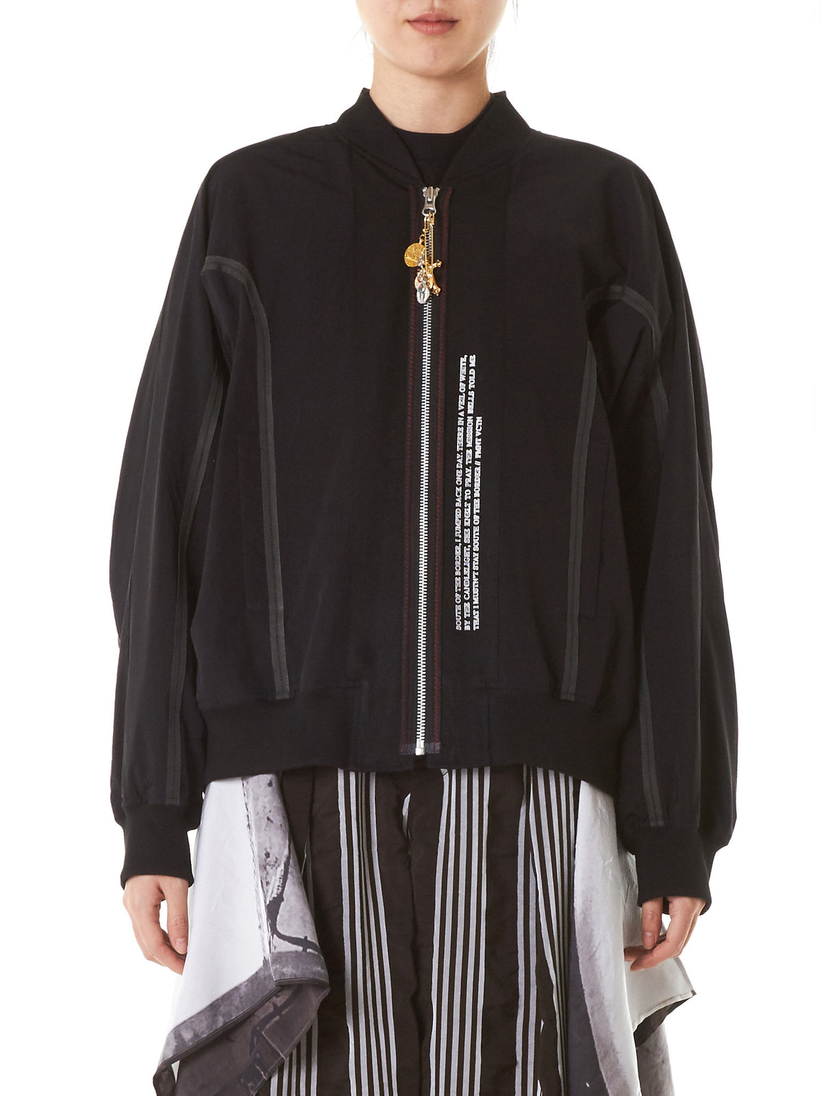 Laced Patchwork Bomber (BL1K-BLACK) - H. Lorenzo