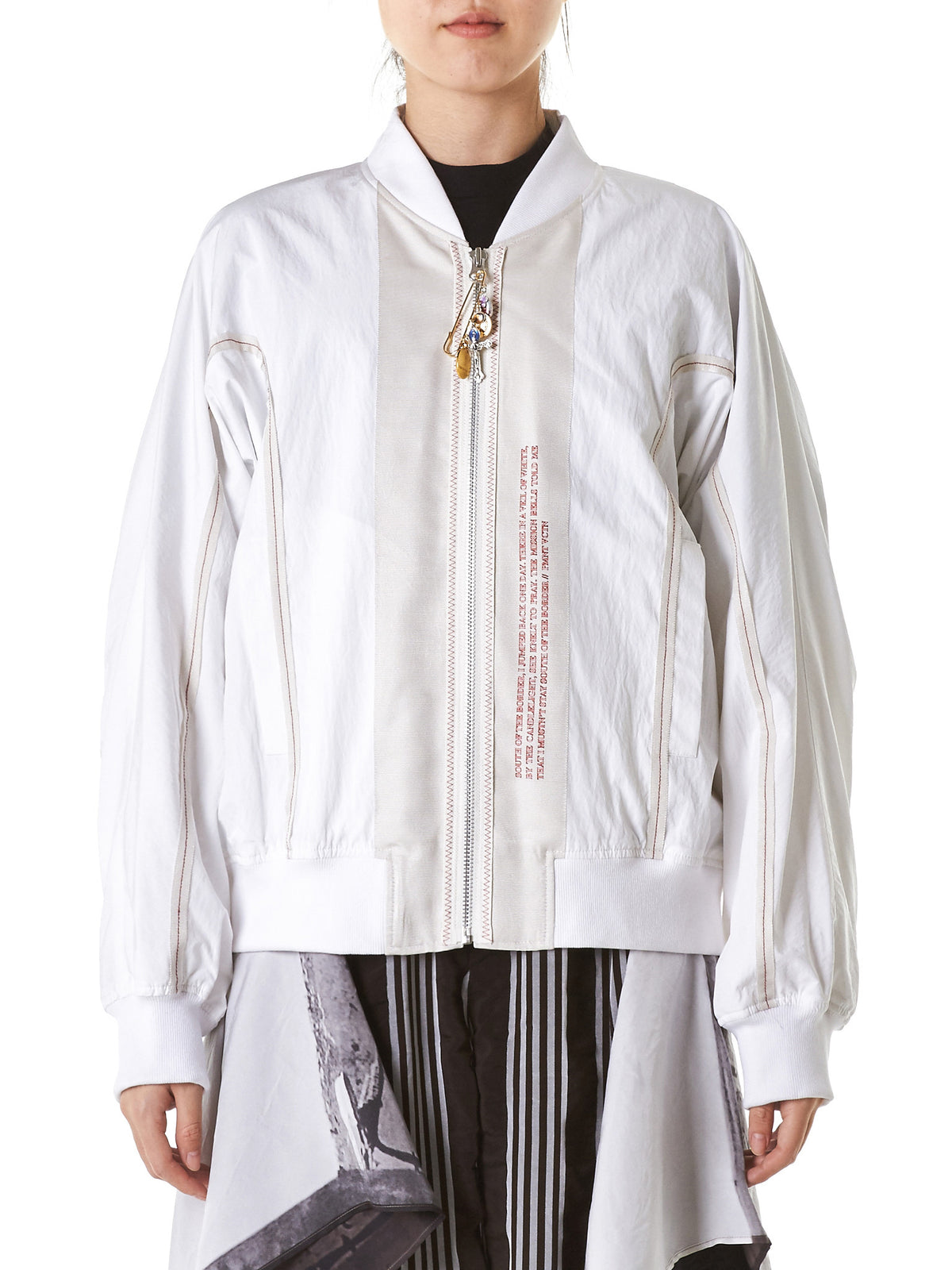 Laced Patchwork Bomber (BL1W-WHITE) - H. Lorenzo