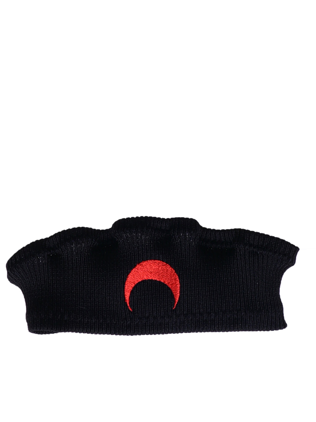 'Crescent Moon' Headband (BLACK-BAND-RED-MOON)