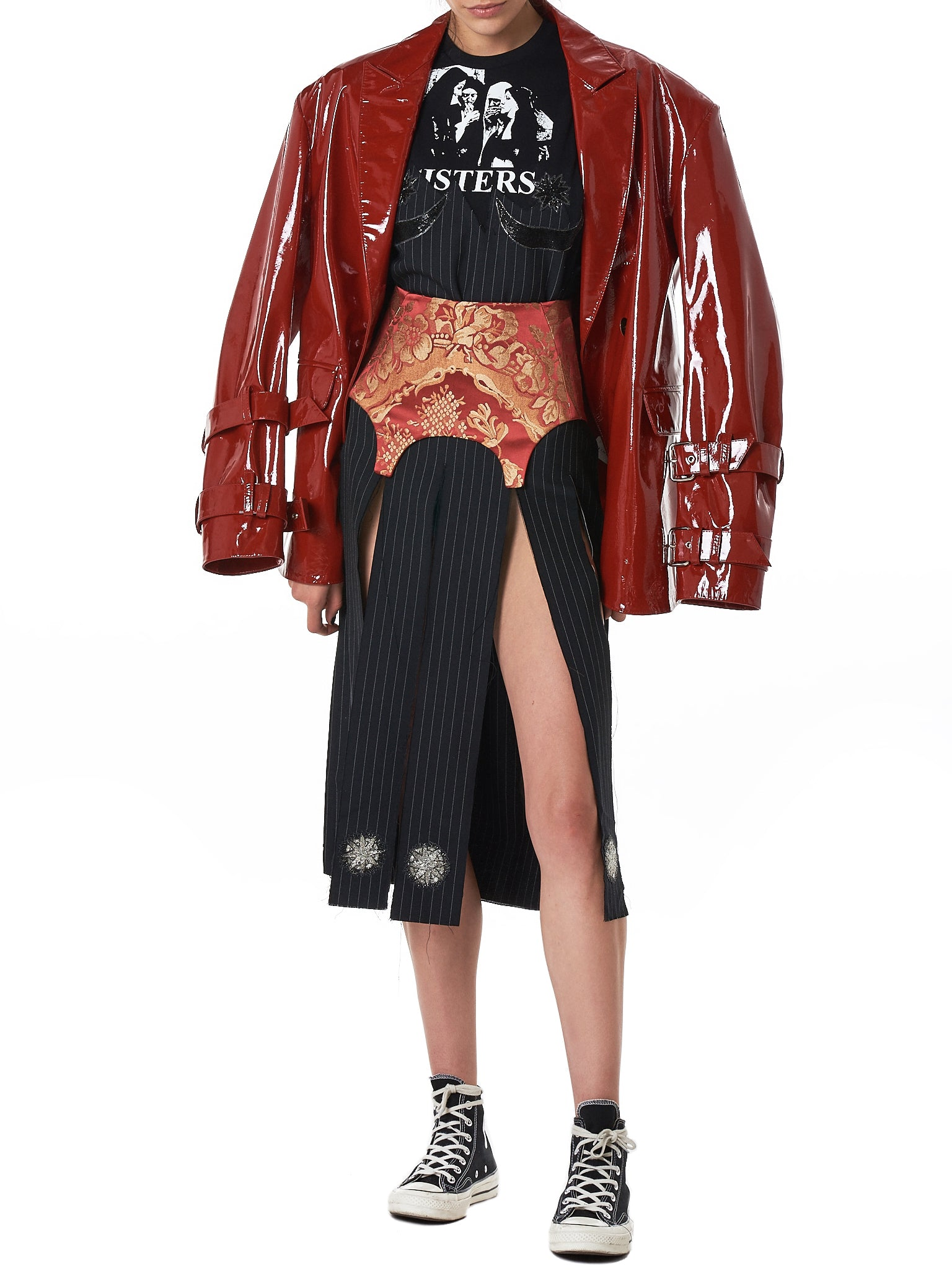 Dilara Findikoglu Leather Jacket - Hlorenzo Style 2