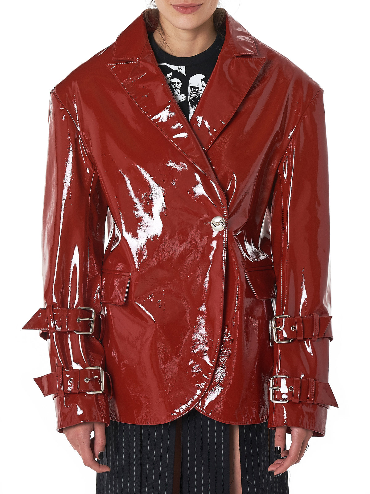 Dilara Findikoglu Leather Jacket - Hlorenzo Front