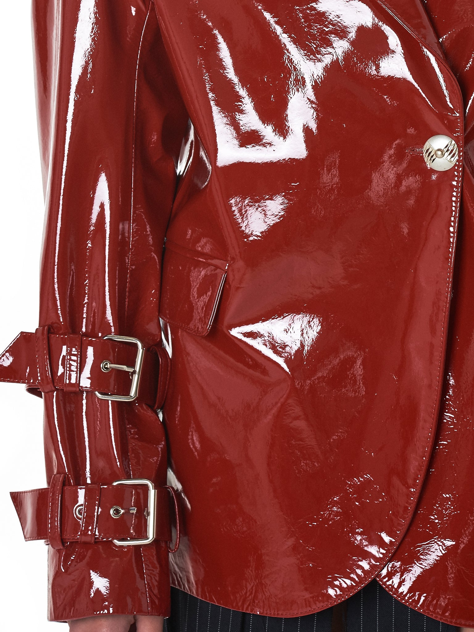 Dilara Findikoglu Leather Jacket - Hlorenzo detail 3