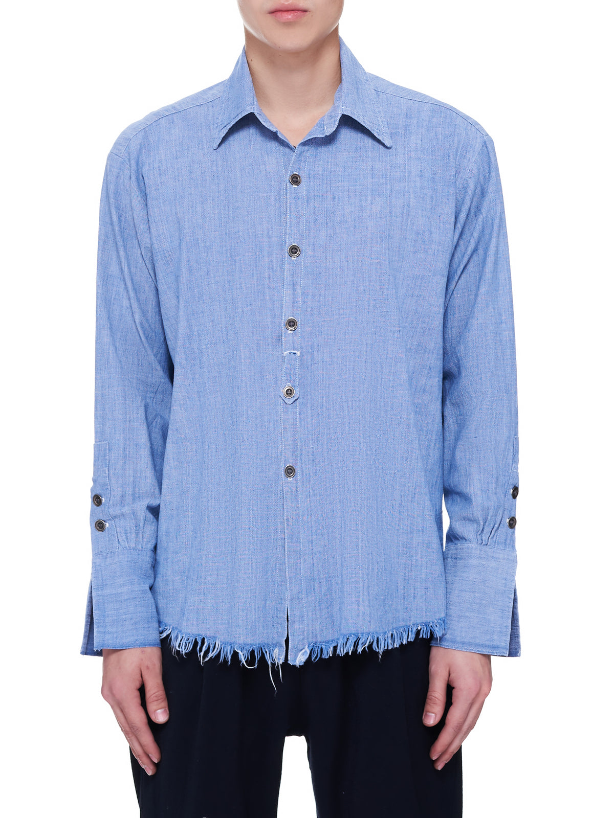 Chambray Dress Shirt (BM124-BLUE)